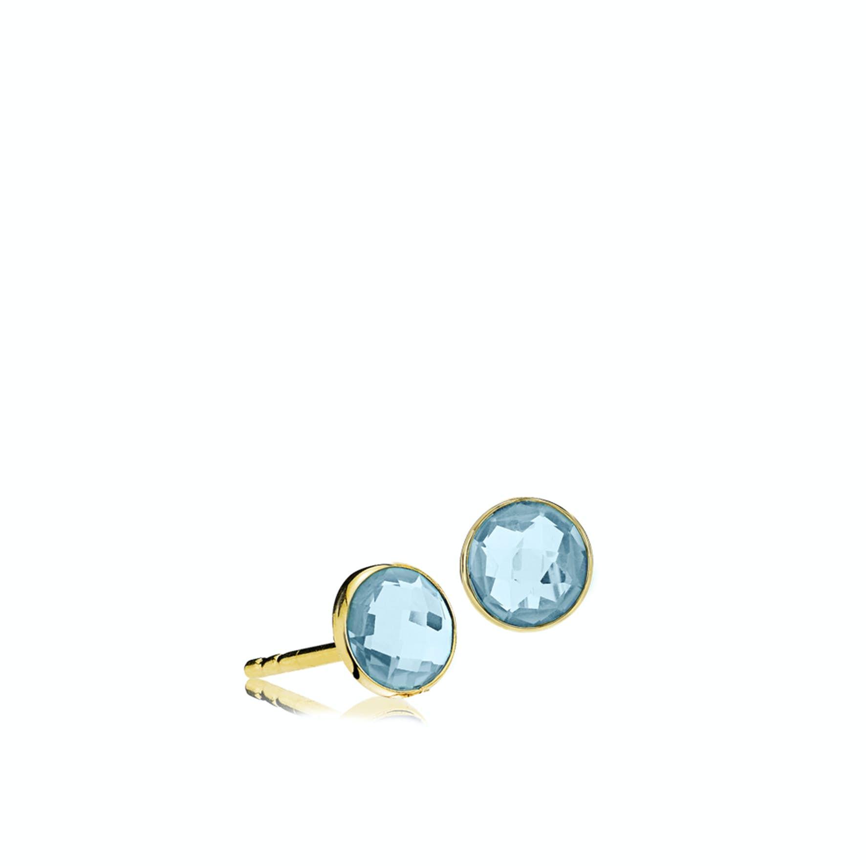 Prima Donna Earsticks Aqua Blue von Izabel Camille in Vergoldet-Silber Sterling 925|Aqua Blue