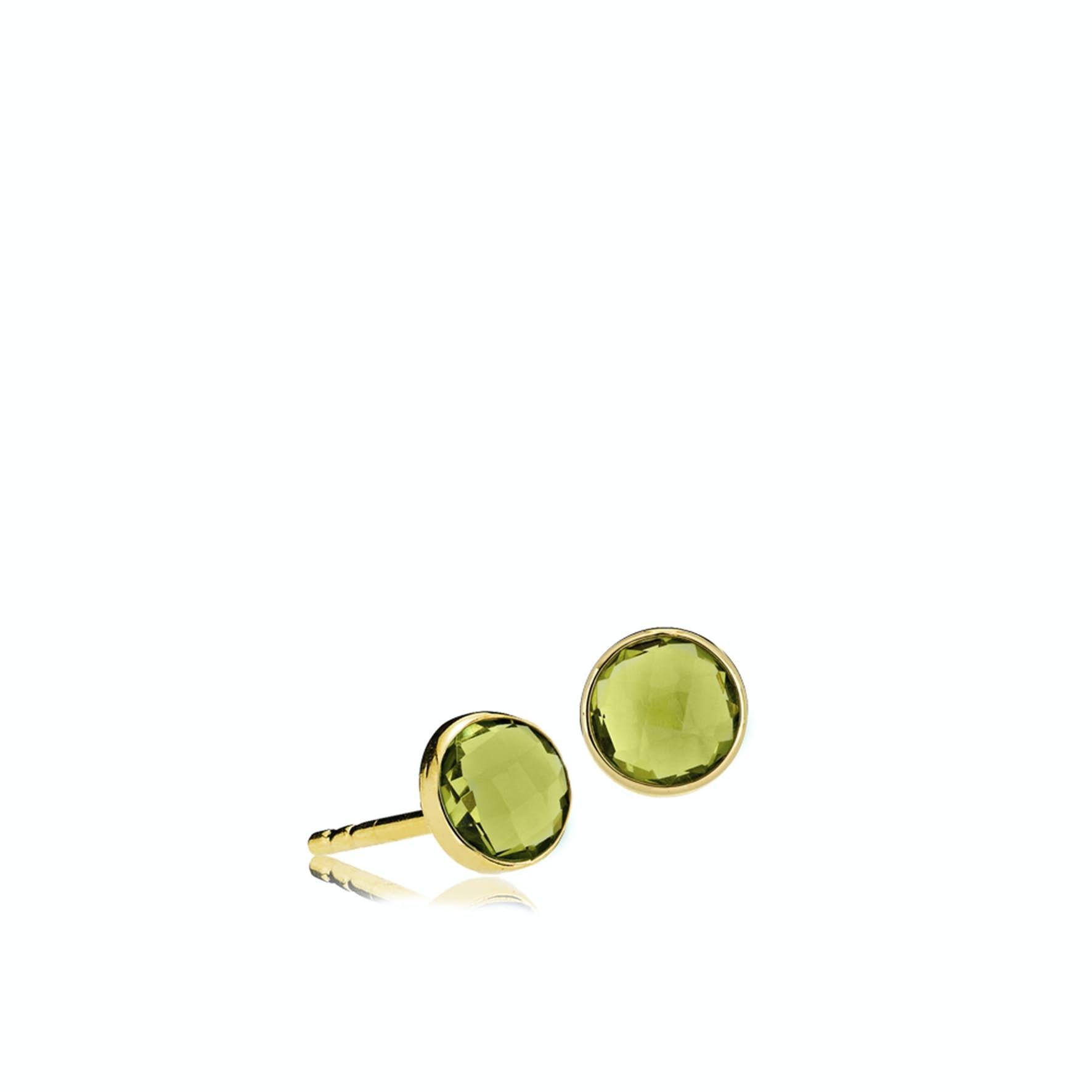 Prima donna Earsticks Peridot Green fra Izabel Camille i Forgyldt-Sølv Sterling 925|Peridot Green