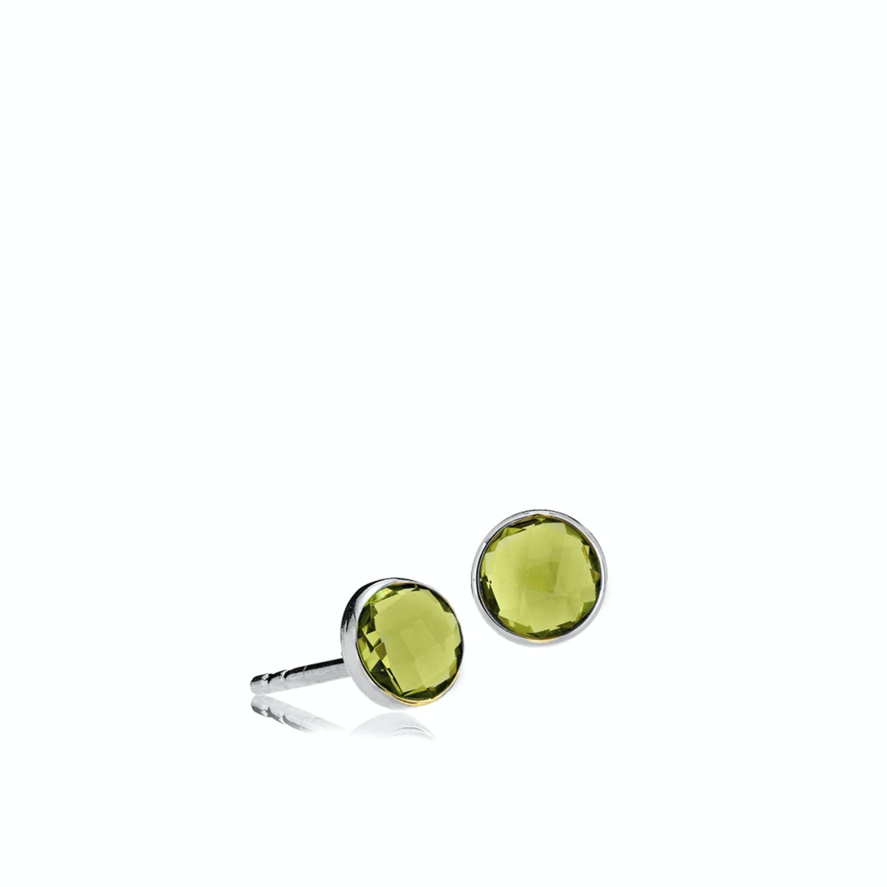 Prima donna Earsticks Peridot Green von Izabel Camille in Silber Sterling 925 Peridot Green