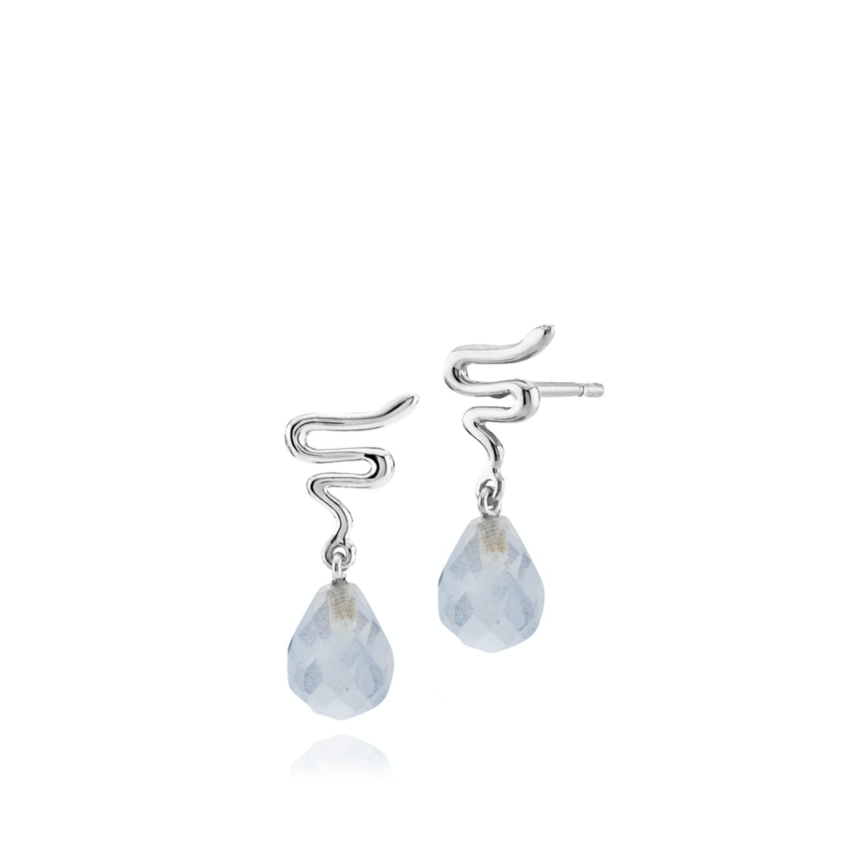 Saniya Earsticks Blue von Izabel Camille in Silber Sterling 925