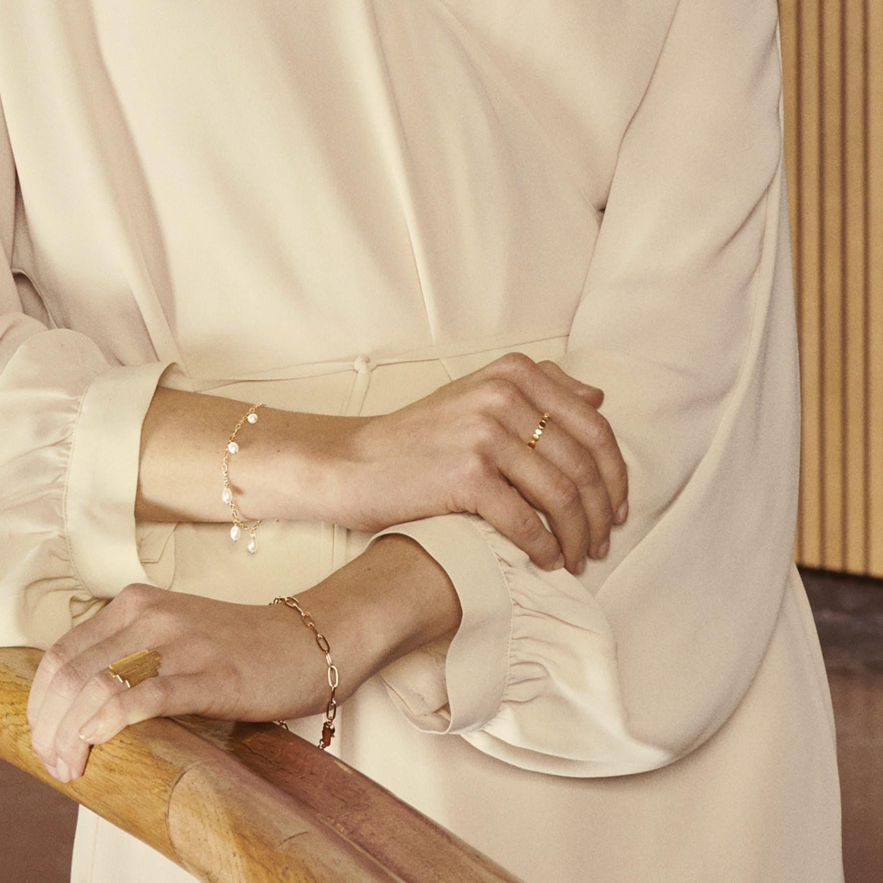 Ocean Dream Bracelet fra Pernille Corydon i Sølv Sterling 925|Freshwater Pearl