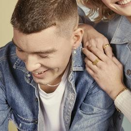 Coin Huggie Earring