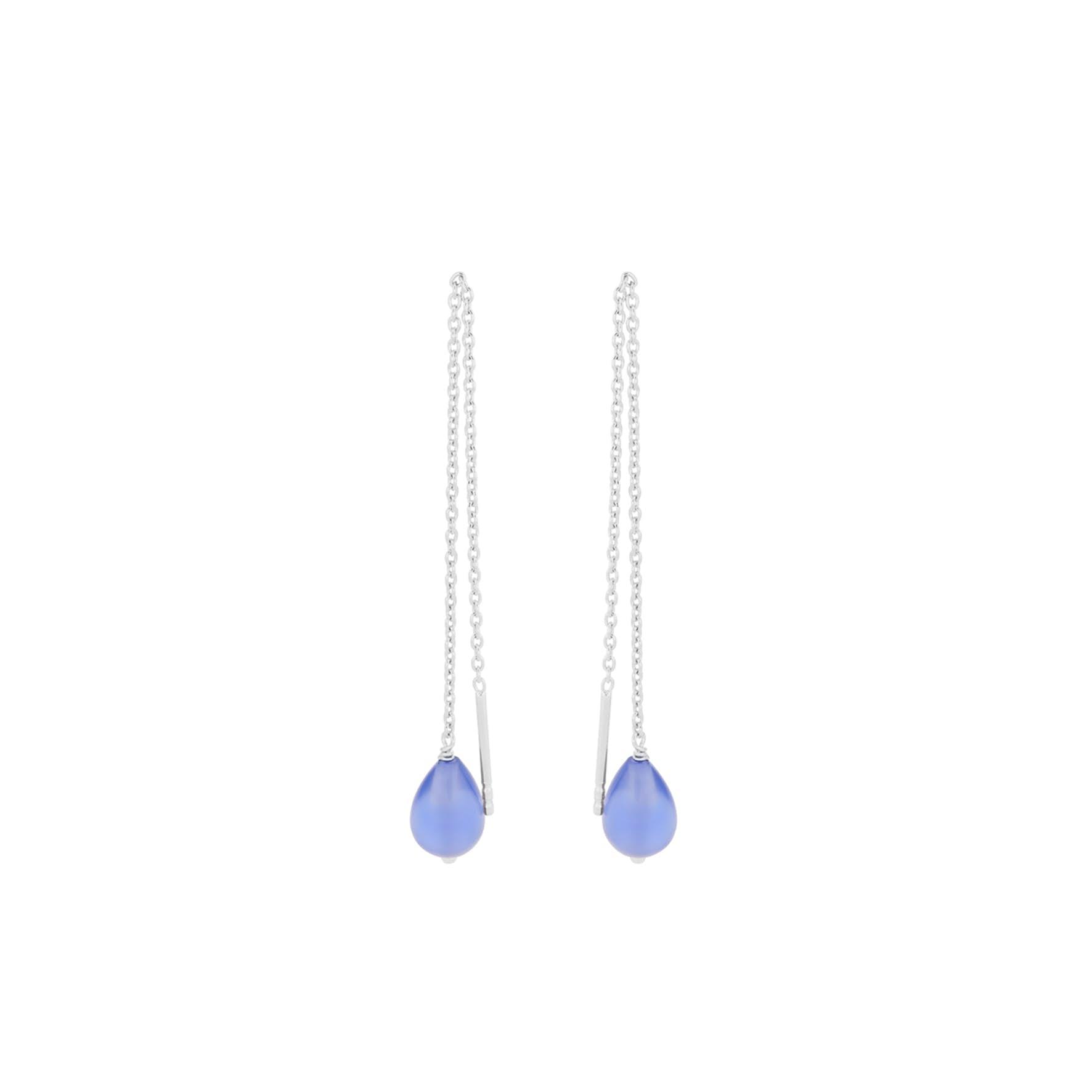 Aqua Blue Earchains