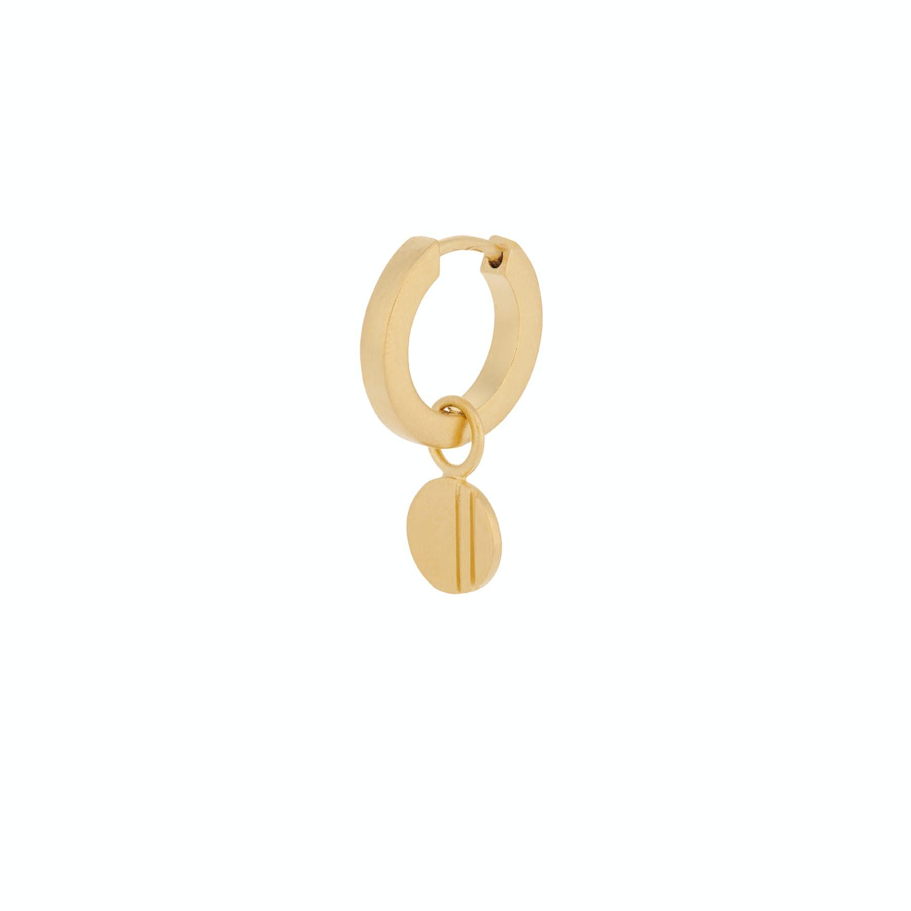 Coin Huggie Earring von Pernille Corydon in Vergoldet-Silber Sterling 925