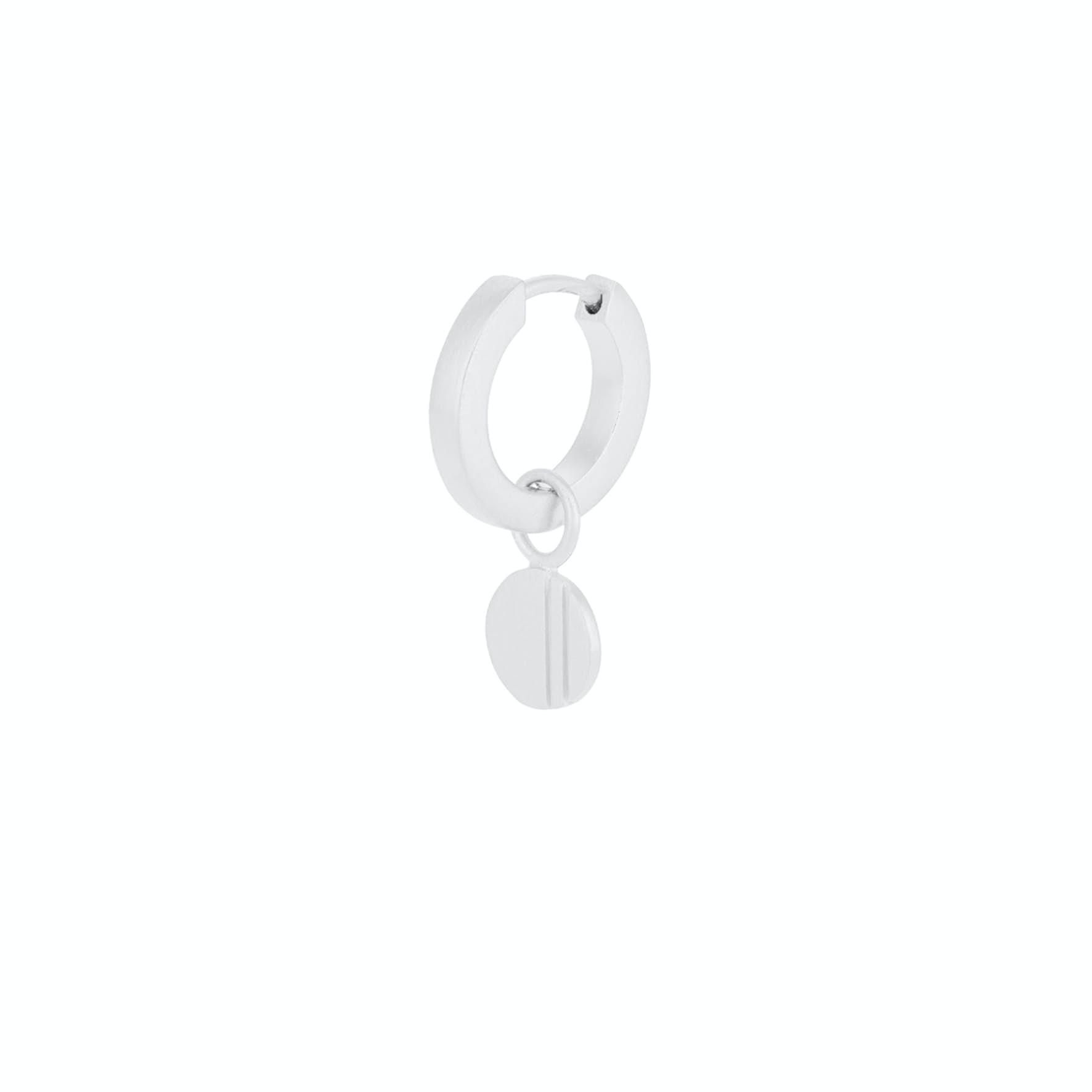 Coin Huggie Earring från Pernille Corydon i Silver Sterling 925