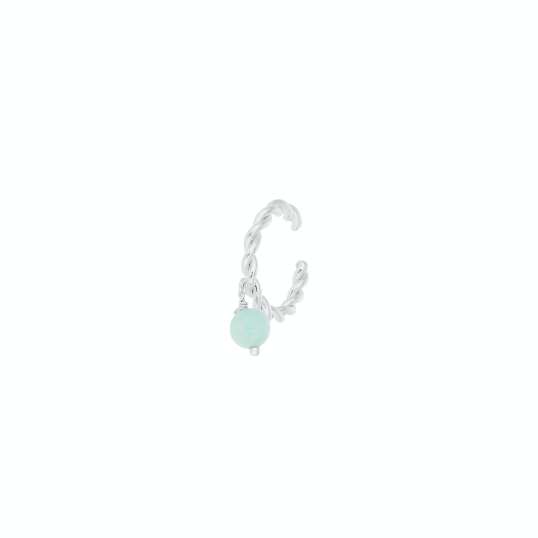 Fjord Earcuff från Pernille Corydon i Silver Sterling 925|Amazonite