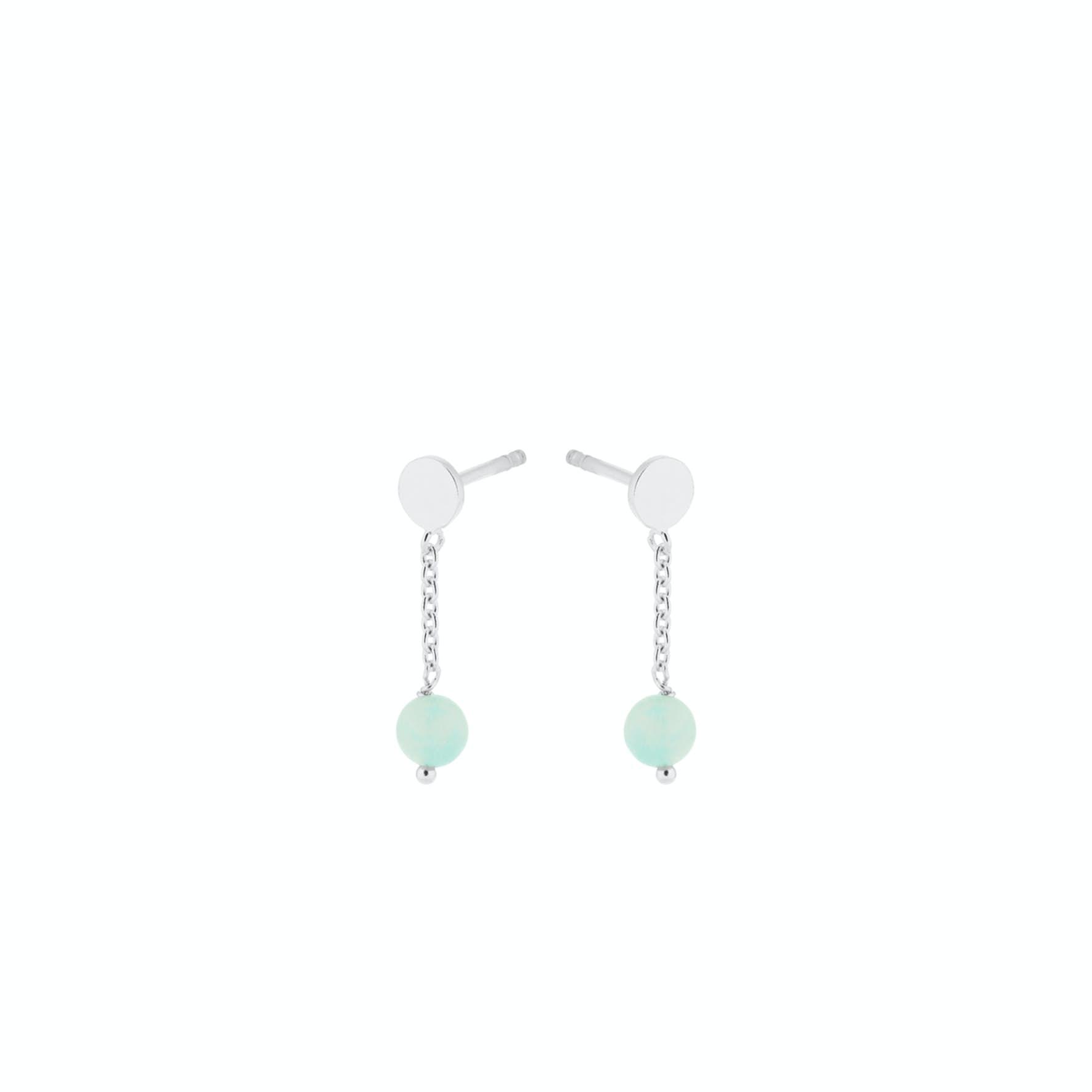 Fjord Earsticks from Pernille Corydon in Silver Sterling 925|Amazonite