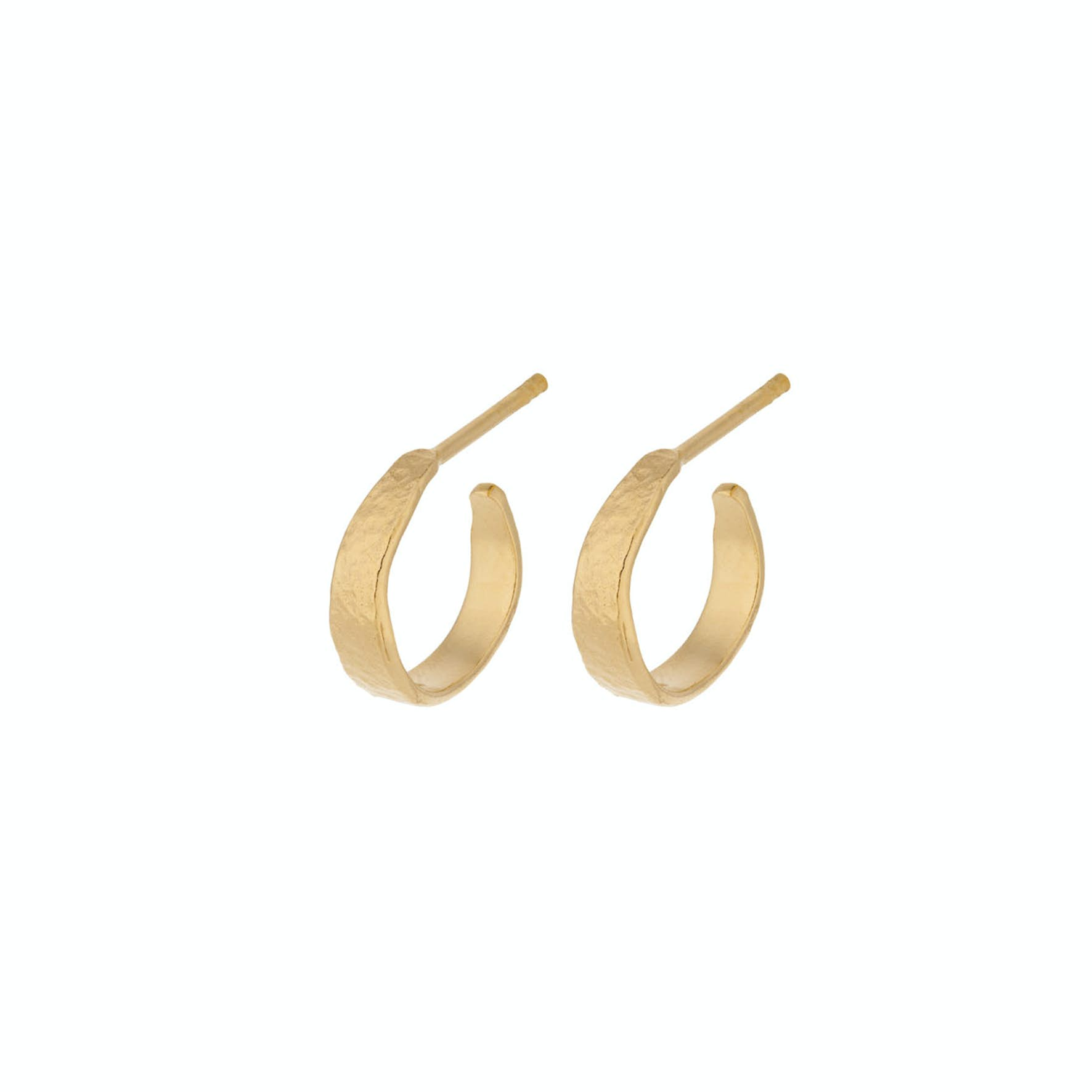 Moonscape Hoops Mini from Pernille Corydon in Goldplated-Silver Sterling 925
