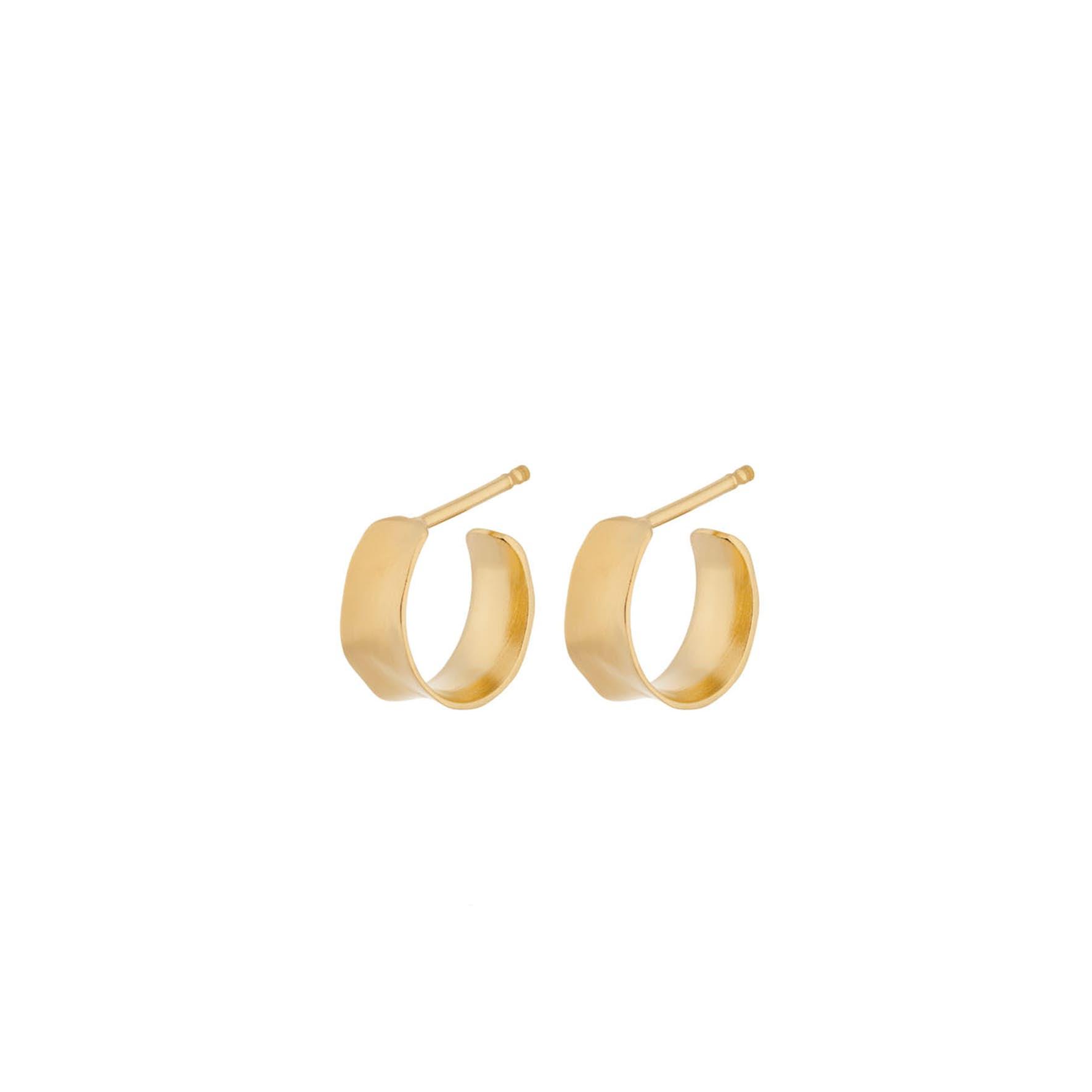 Saga Earrings Mini von Pernille Corydon in Vergoldet-Silber Sterling 925