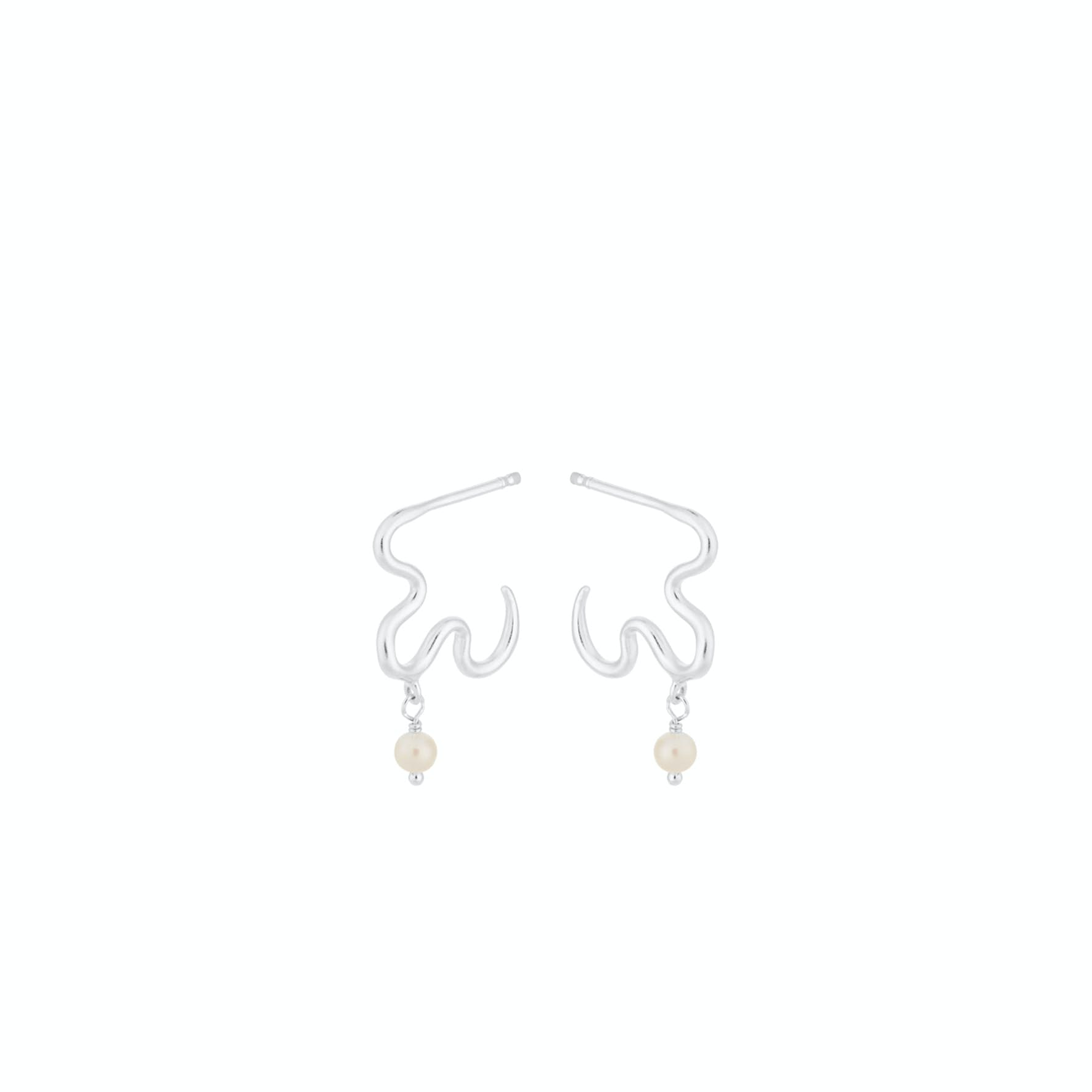 Ocean Dream Earrings von Pernille Corydon in Silber Sterling 925|Freshwater Pearl