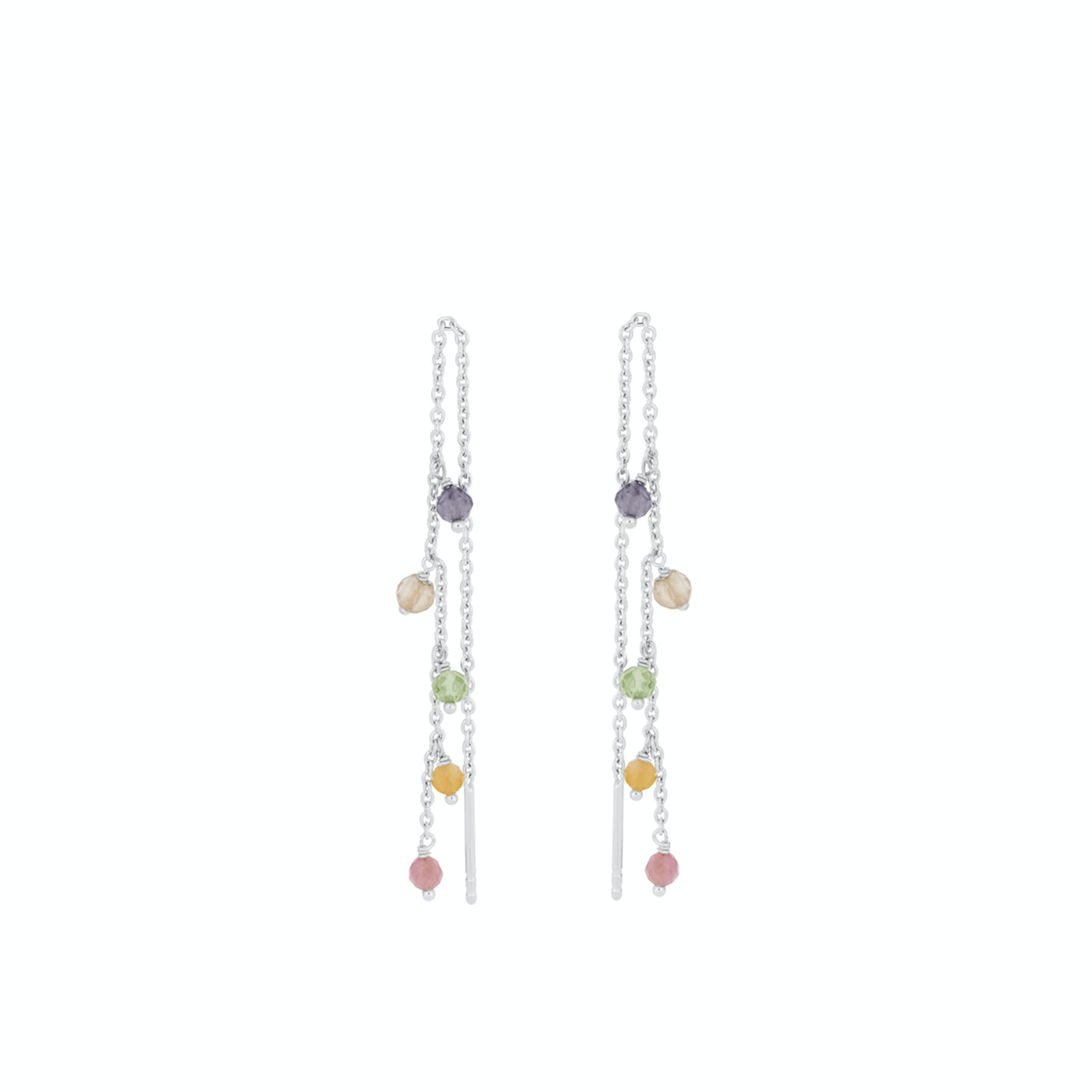 Shade Earchains von Pernille Corydon in Silber Sterling 925|Turmalin