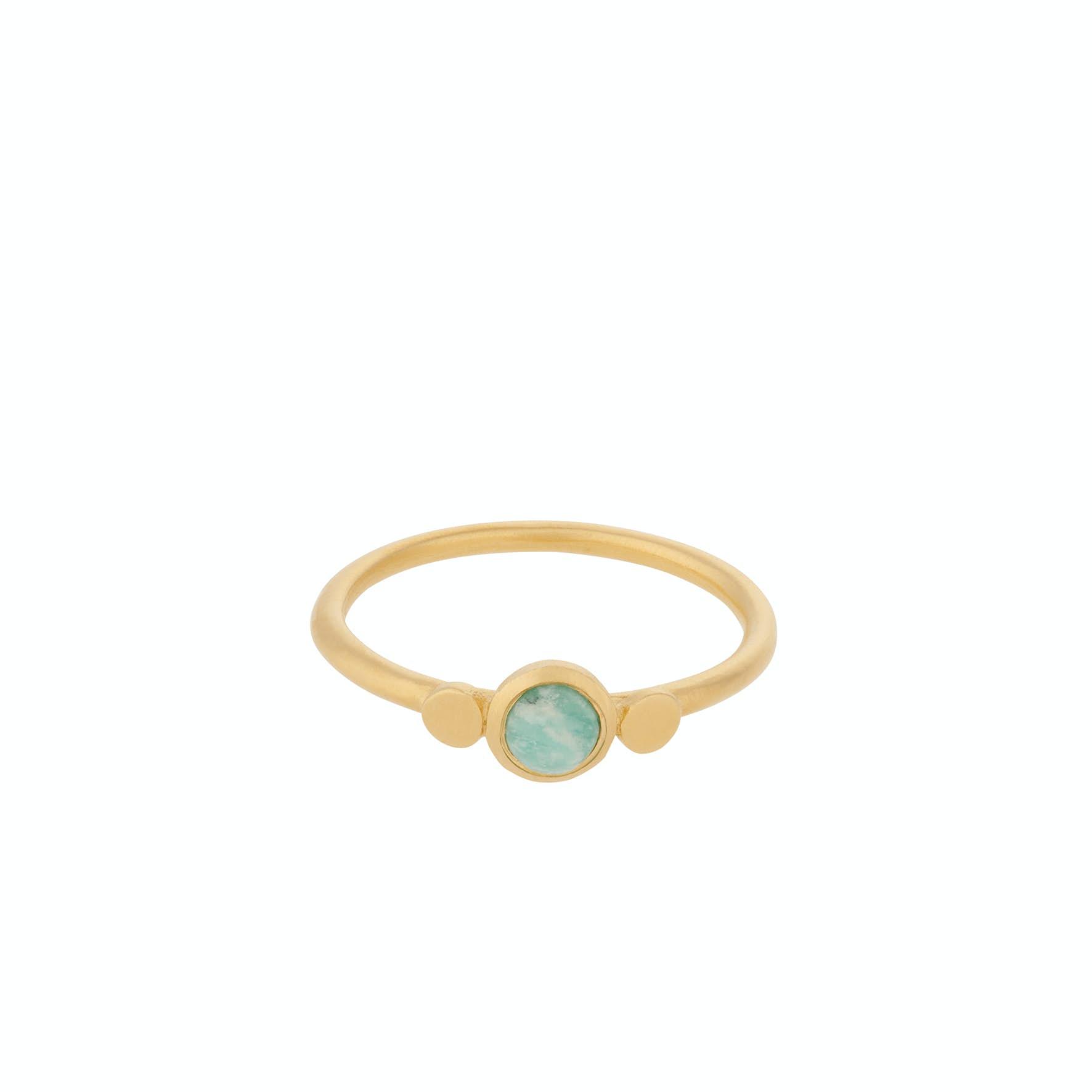Fjord Ring von Pernille Corydon in Vergoldet-Silber Sterling 925|Amazonite