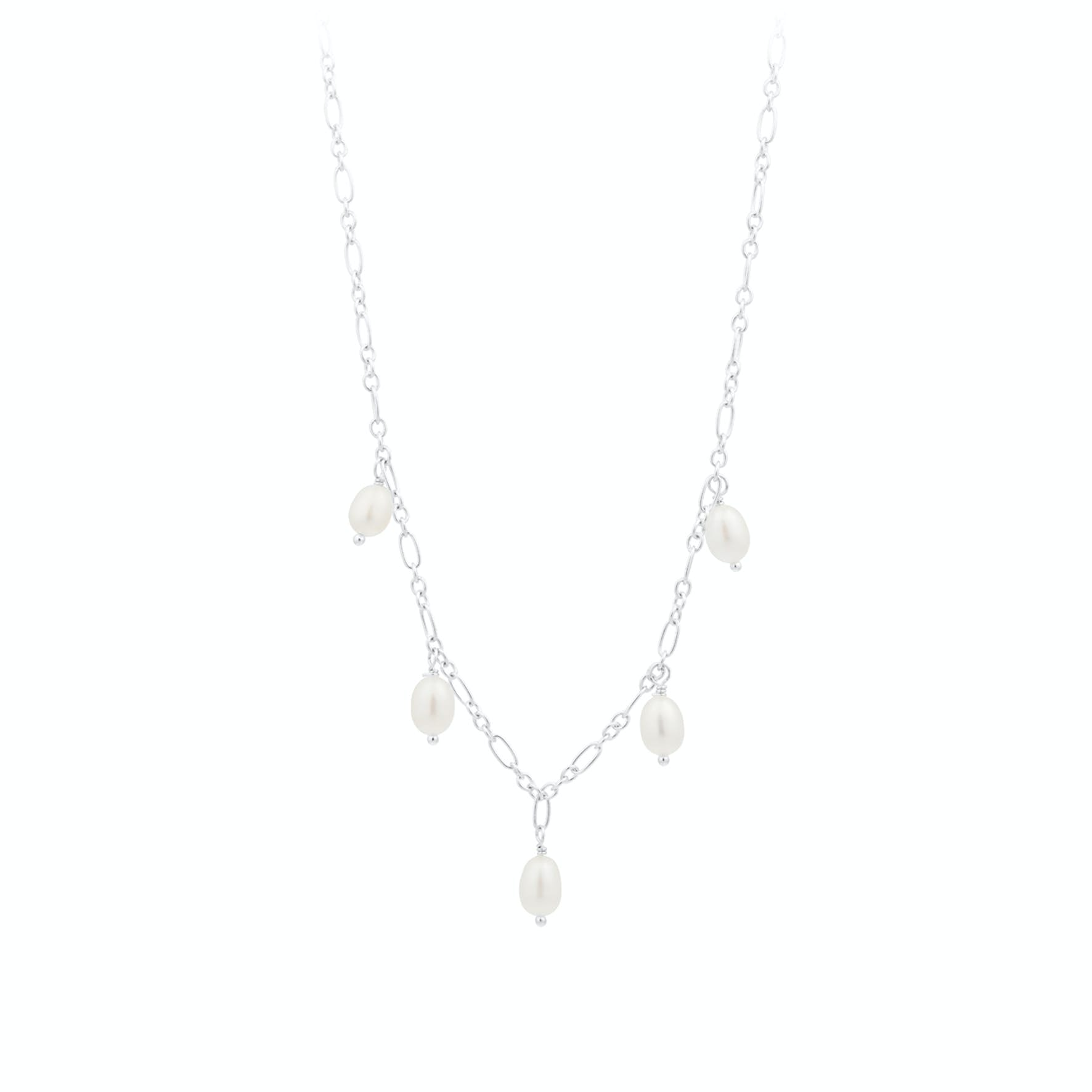 Ocean Dream Necklace from Pernille Corydon in Silver Sterling 925|Freshwater Pearl