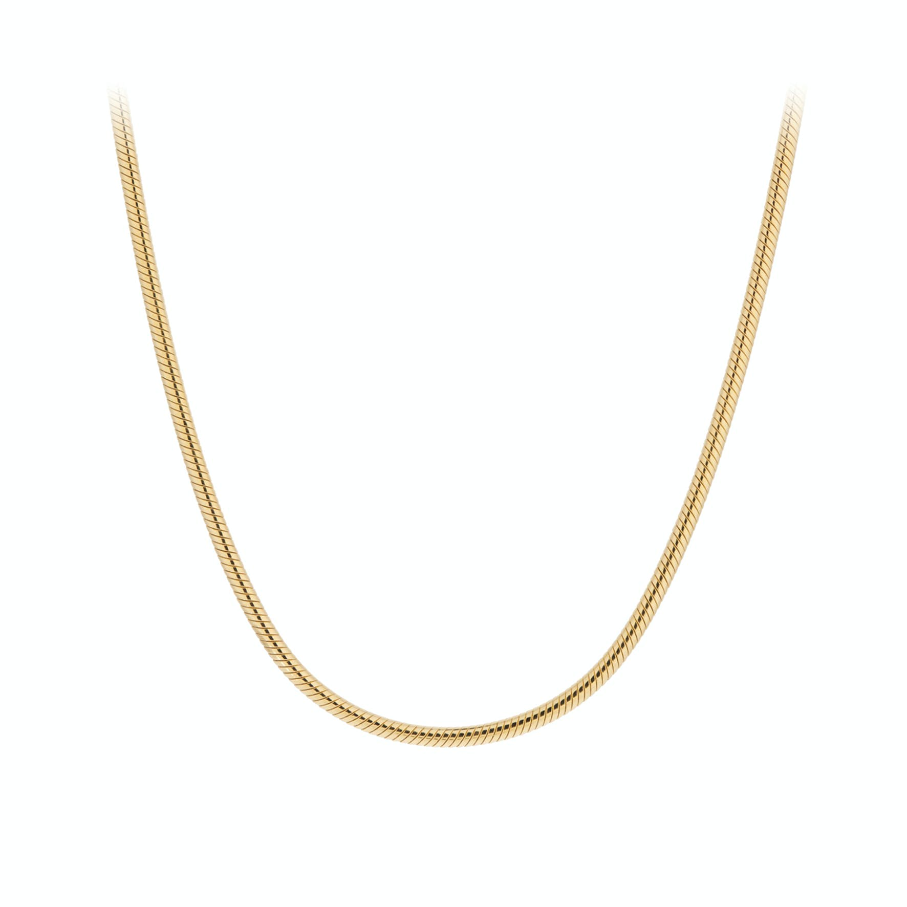 Snake Necklace von Pernille Corydon in Vergoldet-Silber Sterling 925