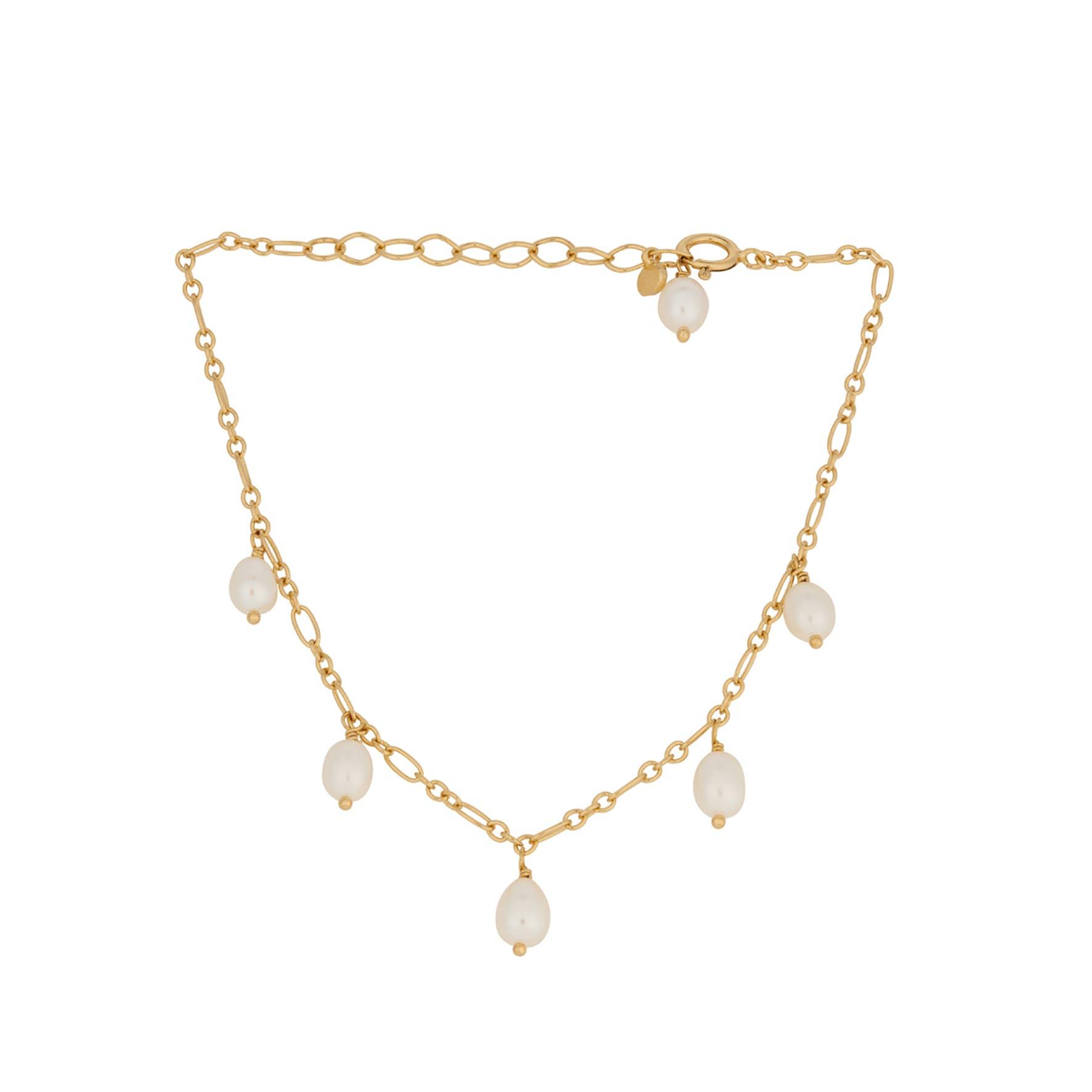 Ocean Dream Bracelet fra Pernille Corydon i Forgylt-Sølv Sterling 925|Freshwater Pearl