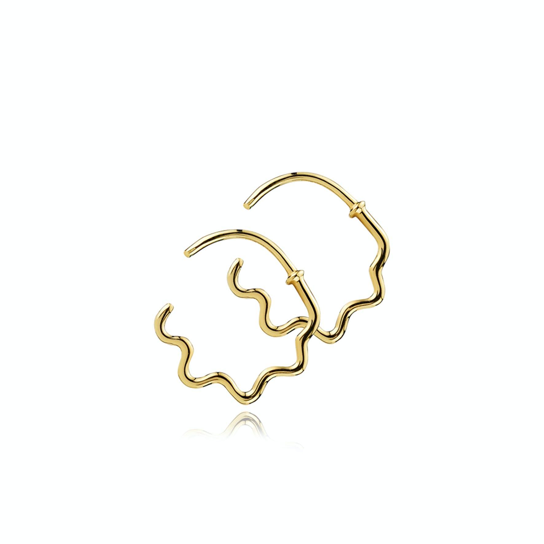 Young One Snake Earrings von Sistie in Vergoldet-Silber Sterling 925