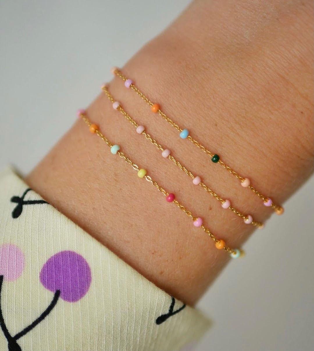 Lola bracelet Light Pink from Enamel Copenhagen in Goldplated-Silver Sterling 925|Blank