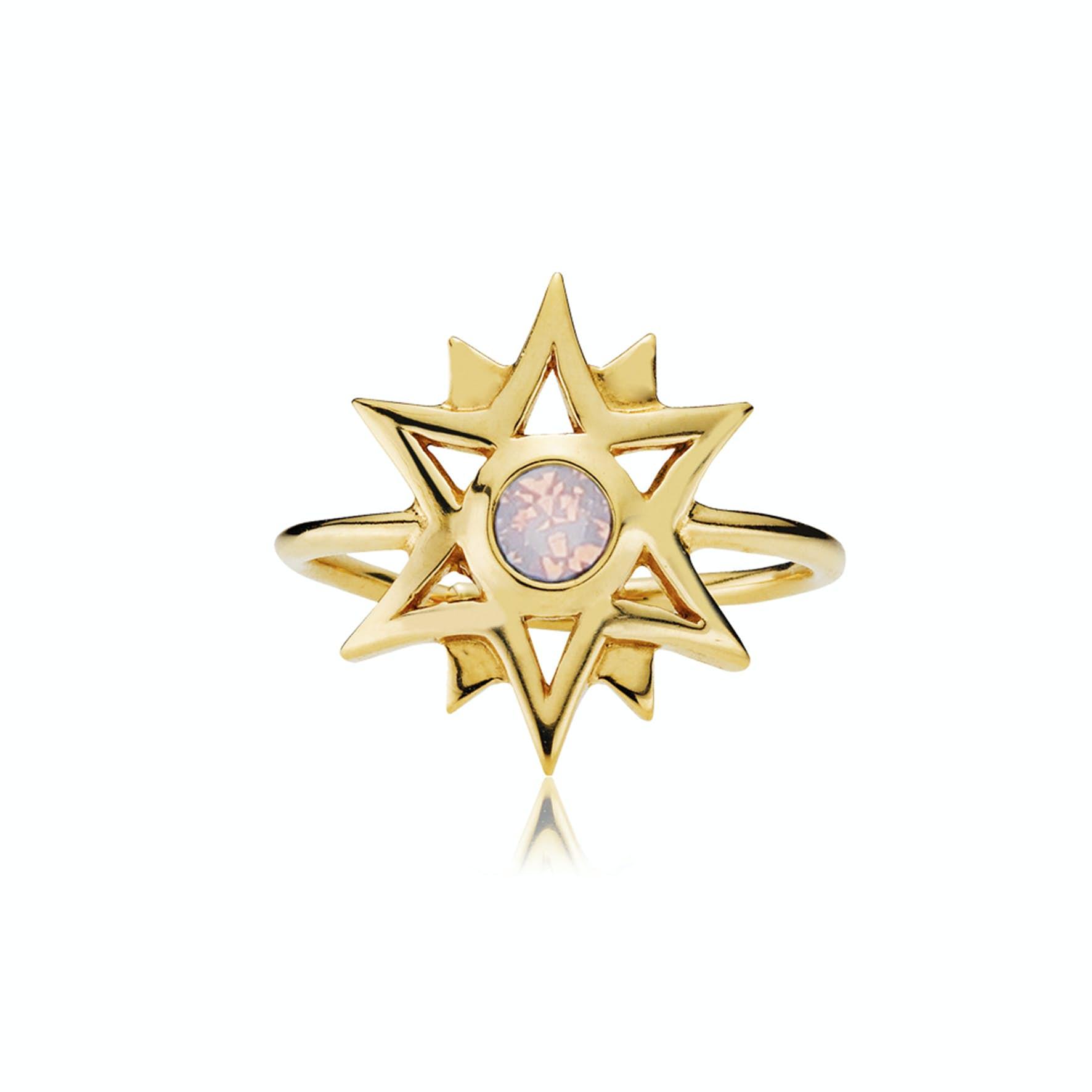 Olivia By Sistie Ring Rose Opal von Sistie in Vergoldet-Silber Sterling 925