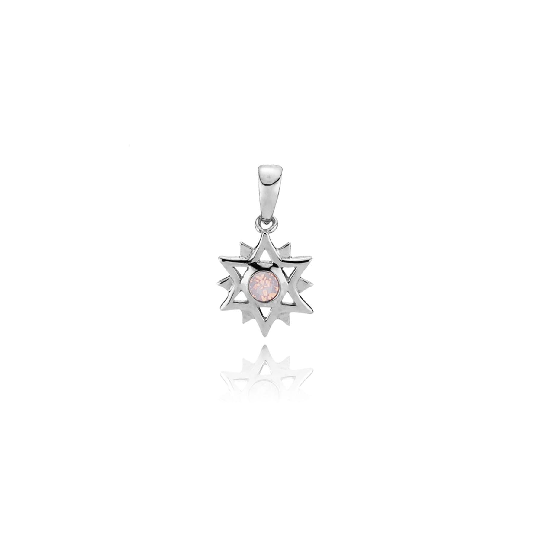 Olivia By Sistie Pendant Rose Opal fra Sistie i Sølv Sterling 925