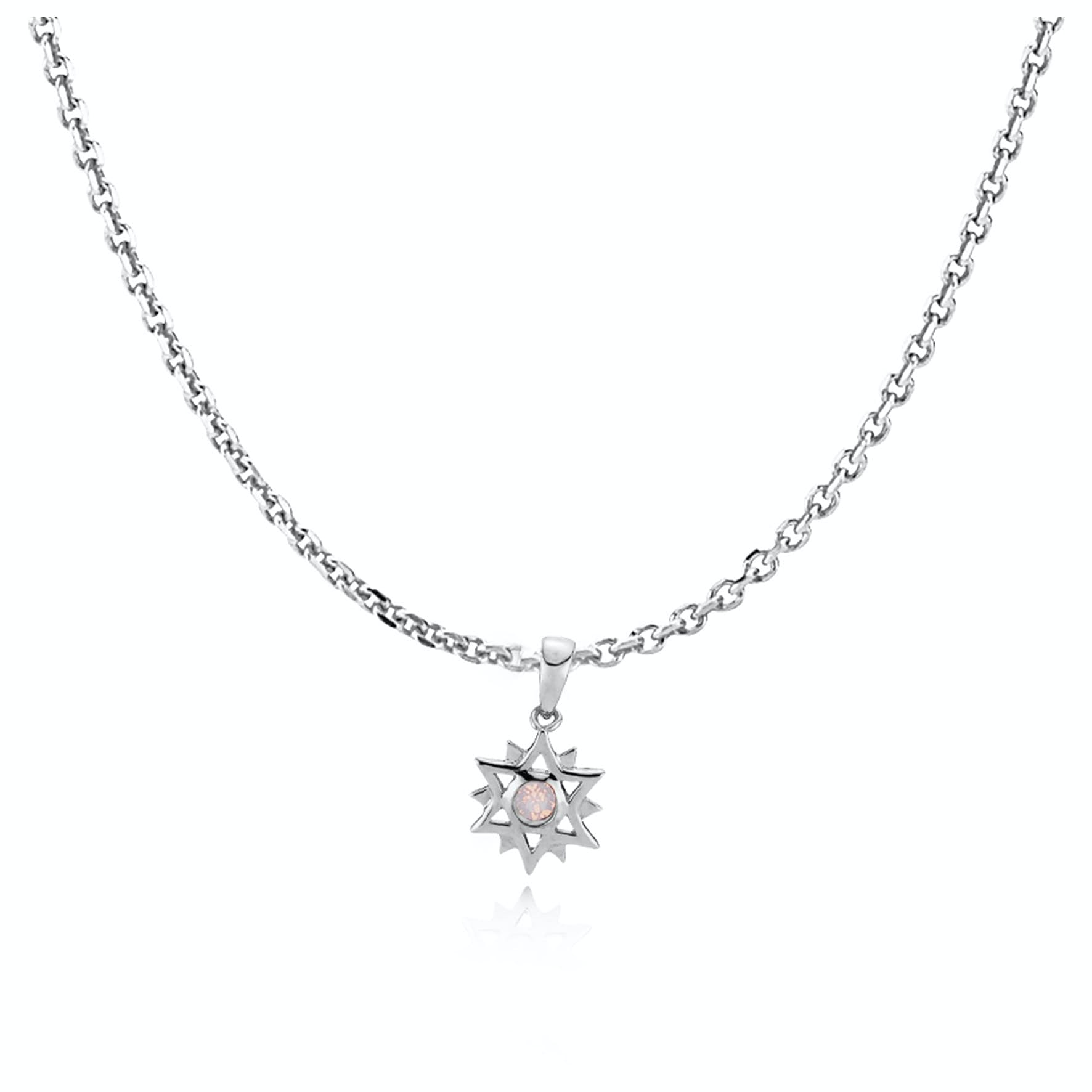 Olivia By Sistie Pendant Necklace Rose Opal von Sistie in Silber Sterling 925