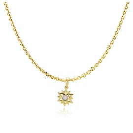 Olivia By Sistie Pendant Necklace Rose Opal