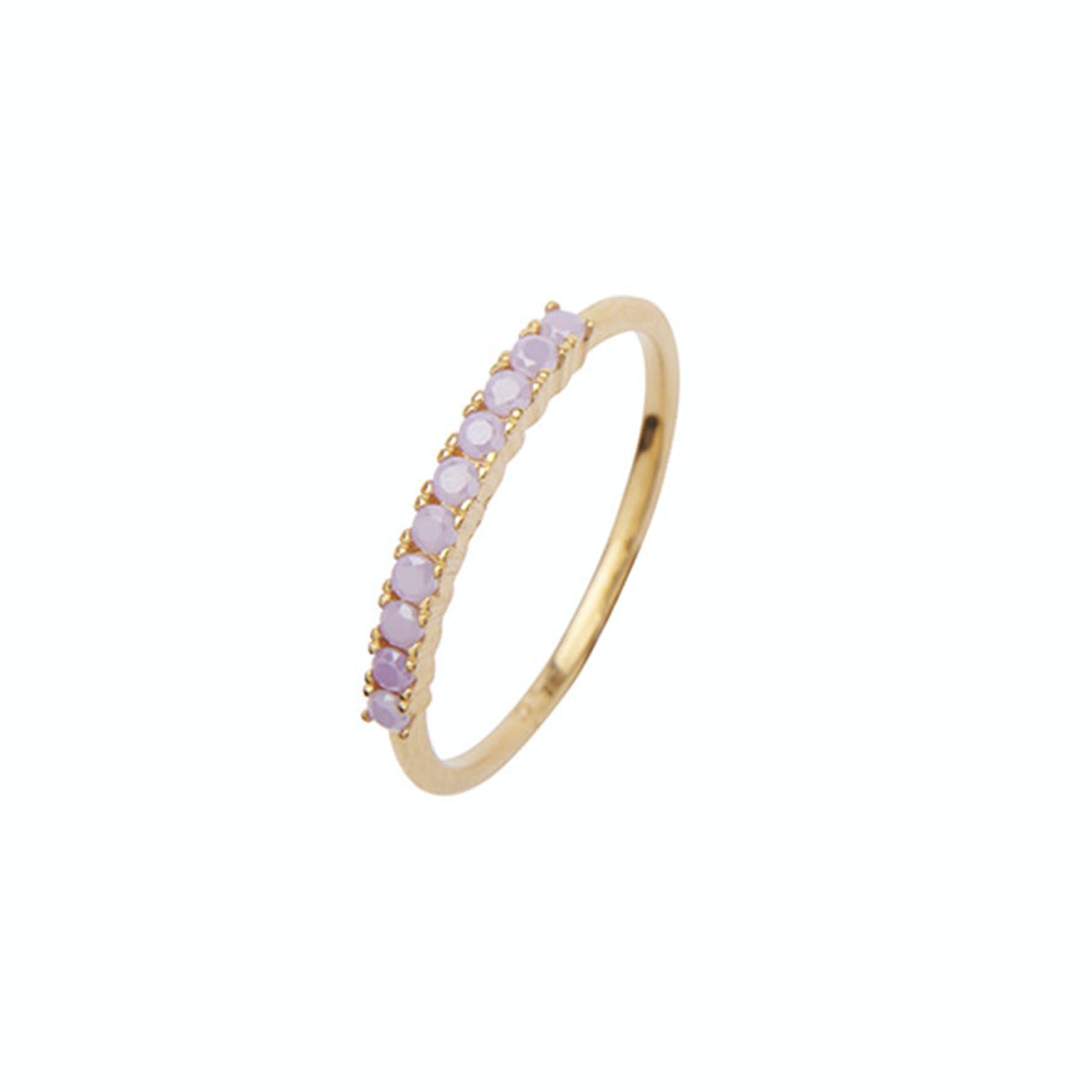 Fineley Crystal Ring fra Pico i Forgylt-Sølv Sterling 925|Purple