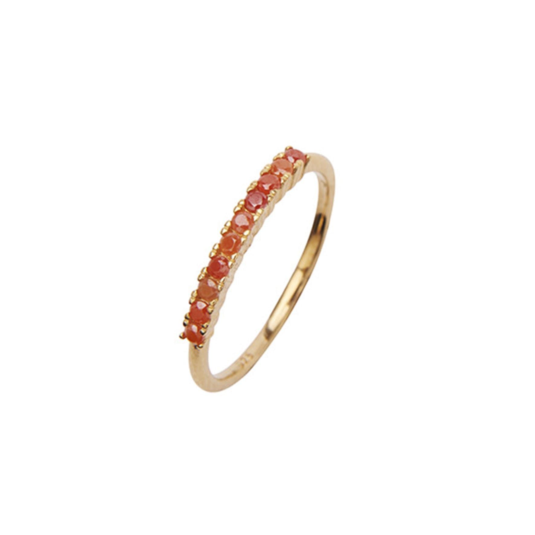 Fineley Crystal Ring fra Pico i Forgyldt-Sølv Sterling 925|Coral
