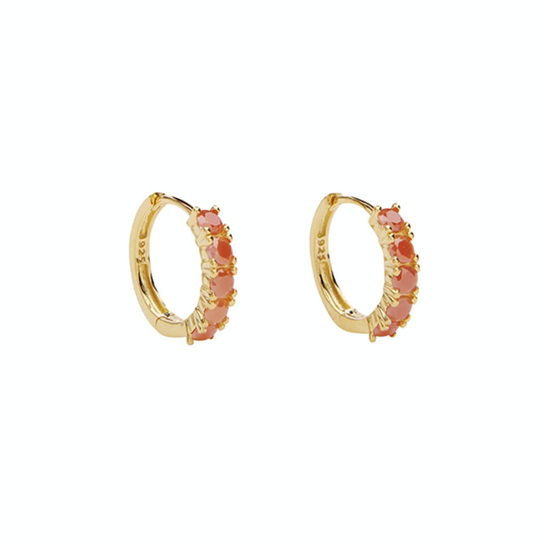 Summer Huggies von Pico in Vergoldet-Silber Sterling 925|Coral