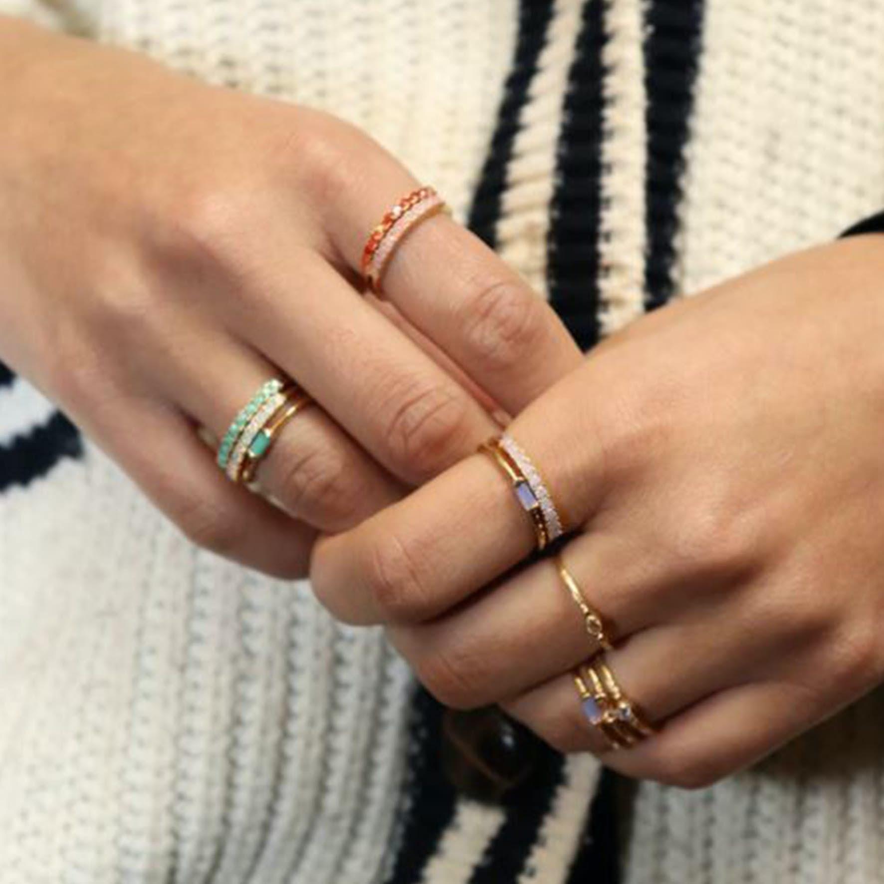 Fineley Crystal Ring från Pico i Förgyllt-Silver Sterling 925|Mint
