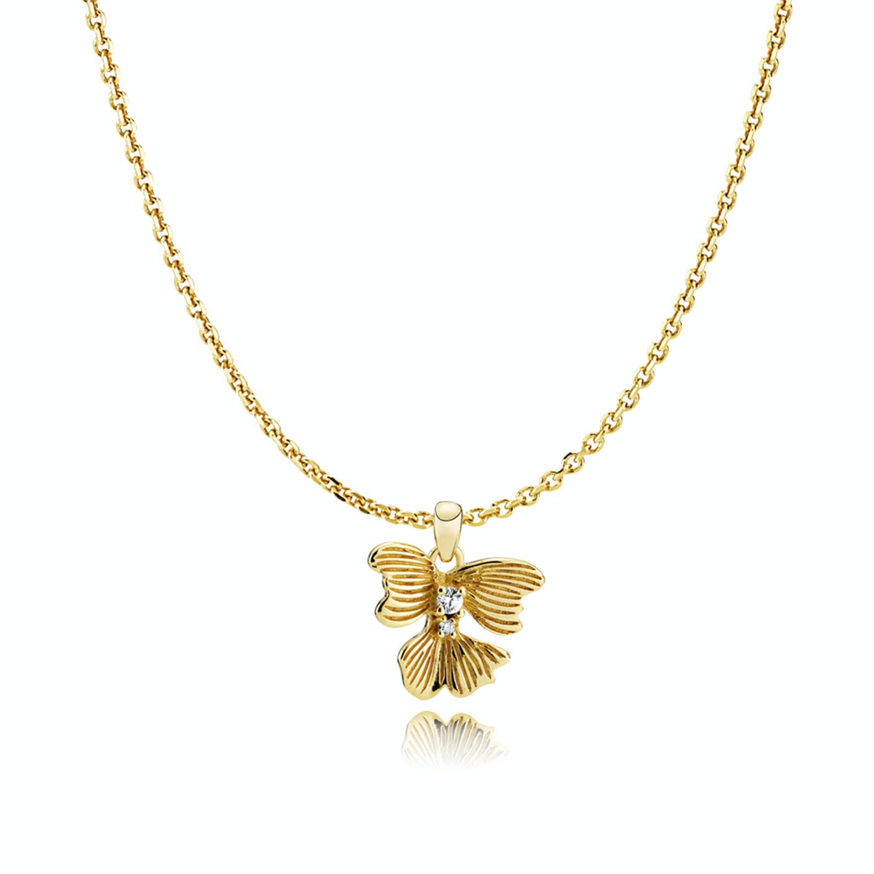 Violet Necklace von Izabel Camille in Vergoldet-Silber Sterling 925