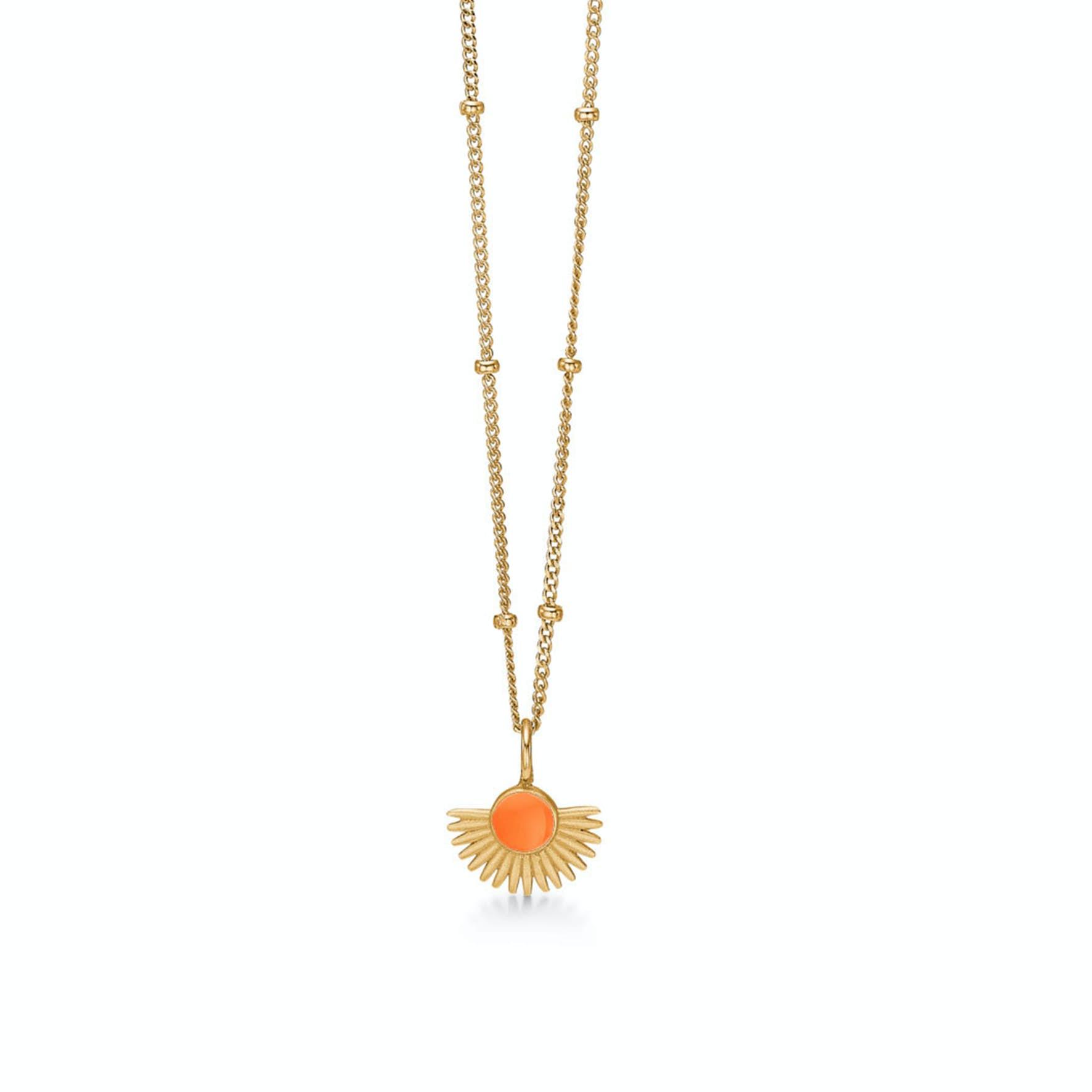 Soleil Necklace Clementine von Enamel Copenhagen in Vergoldet-Silber Sterling 925 Clementine