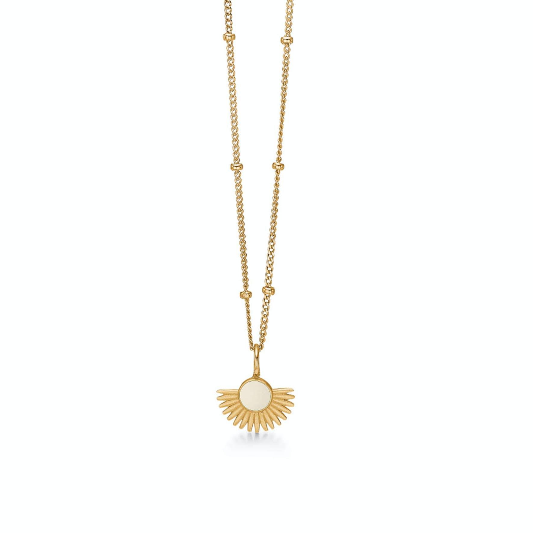 Soleil Necklace Daisy von Enamel Copenhagen in Vergoldet-Silber Sterling 925