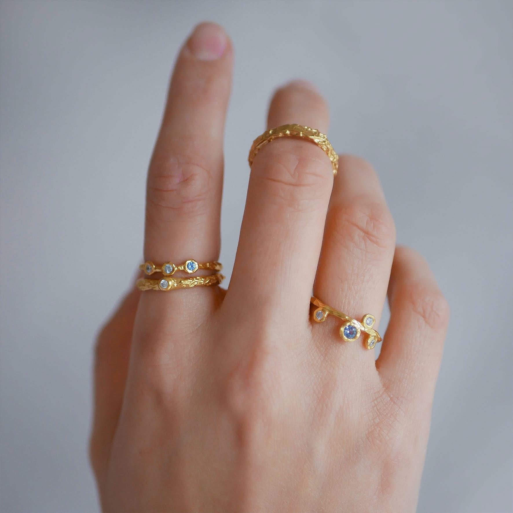 Blooming Ring från Enamel Copenhagen i Förgyllt-Silver Sterling 925