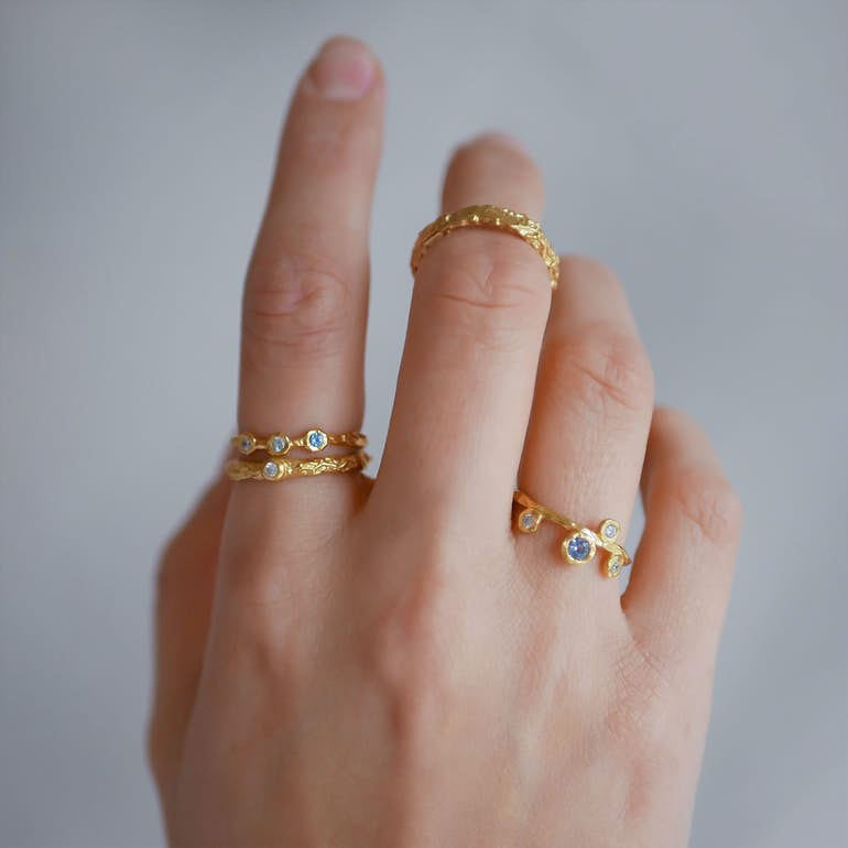 Eloise Ring von Enamel Copenhagen in Vergoldet-Silber Sterling 925
