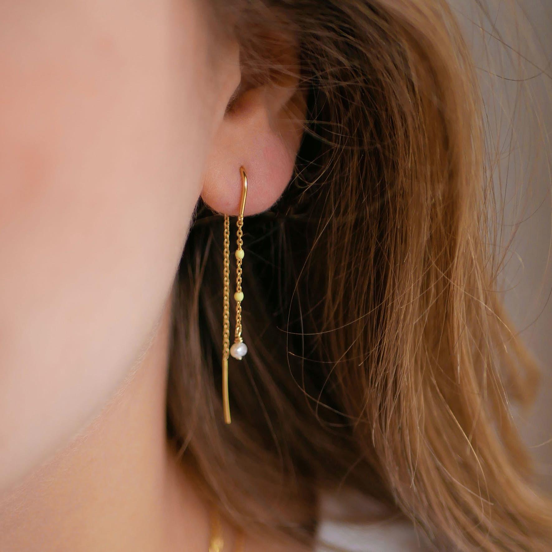 Lilja Earrings från Enamel Copenhagen i Förgyllt-Silver Sterling 925