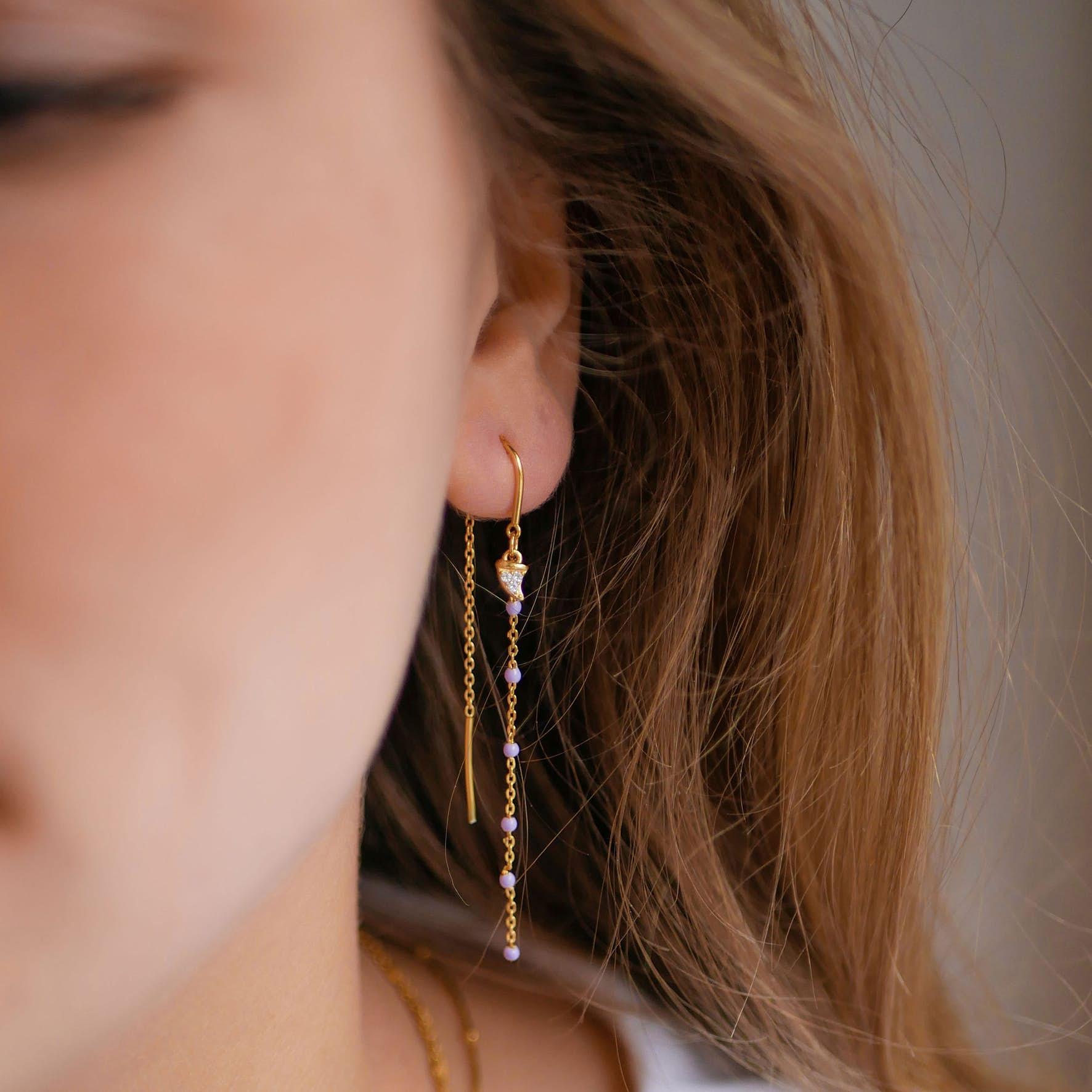Pina Earrings from Enamel Copenhagen in Goldplated-Silver Sterling 925