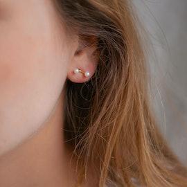 2 Pearls Earsticks