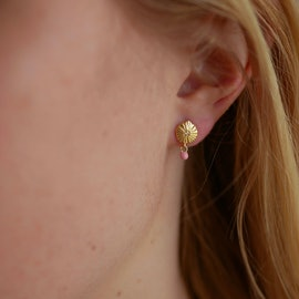 Mini Sparkling Shell Earsticks Flamingo