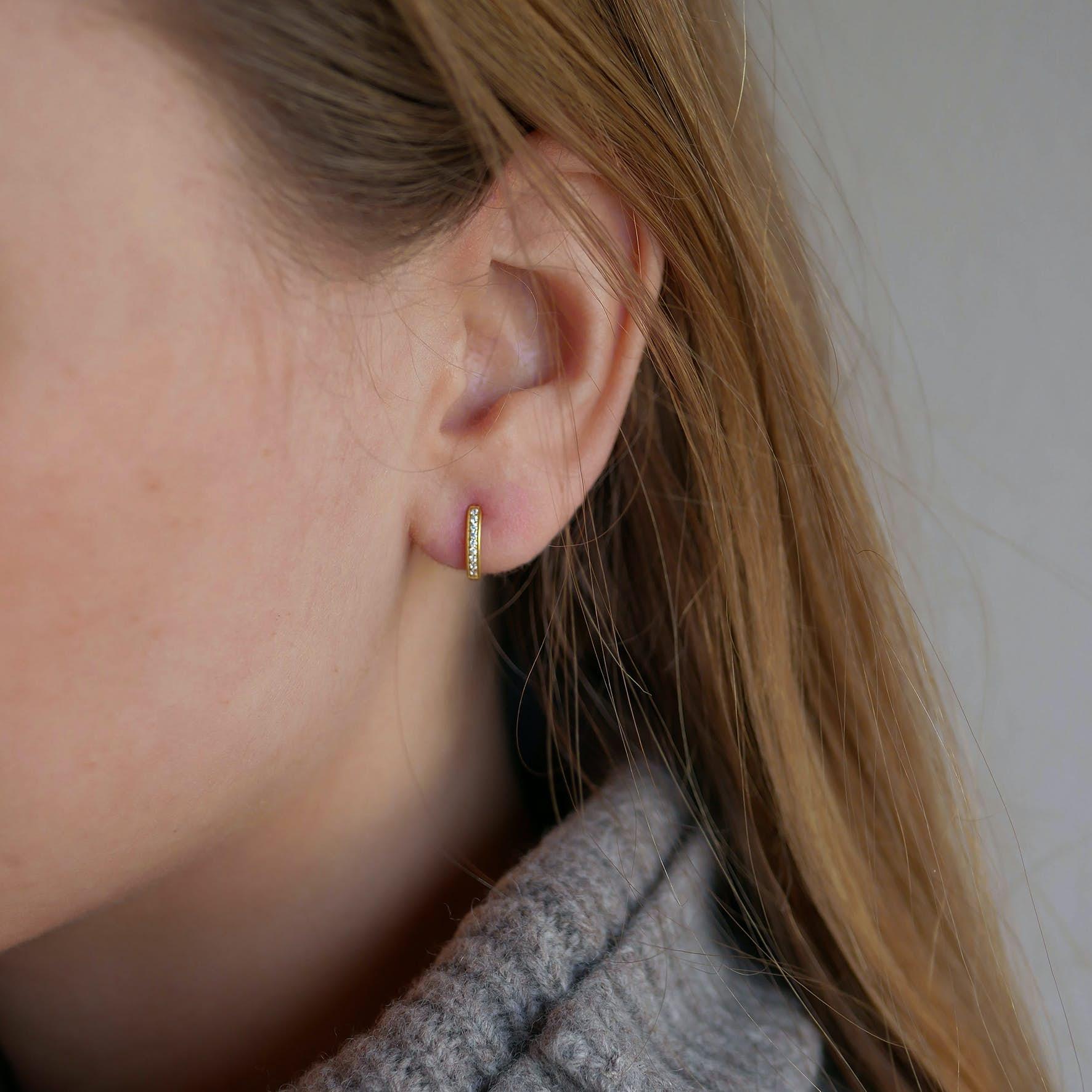 Fauna Earrings fra Enamel Copenhagen i Forgylt-Sølv Sterling 925
