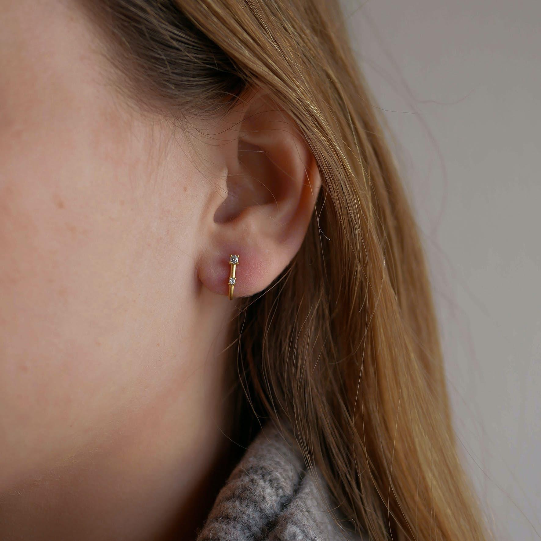 Louella Earrings fra Enamel Copenhagen i Forgyldt-Sølv Sterling 925|Mat