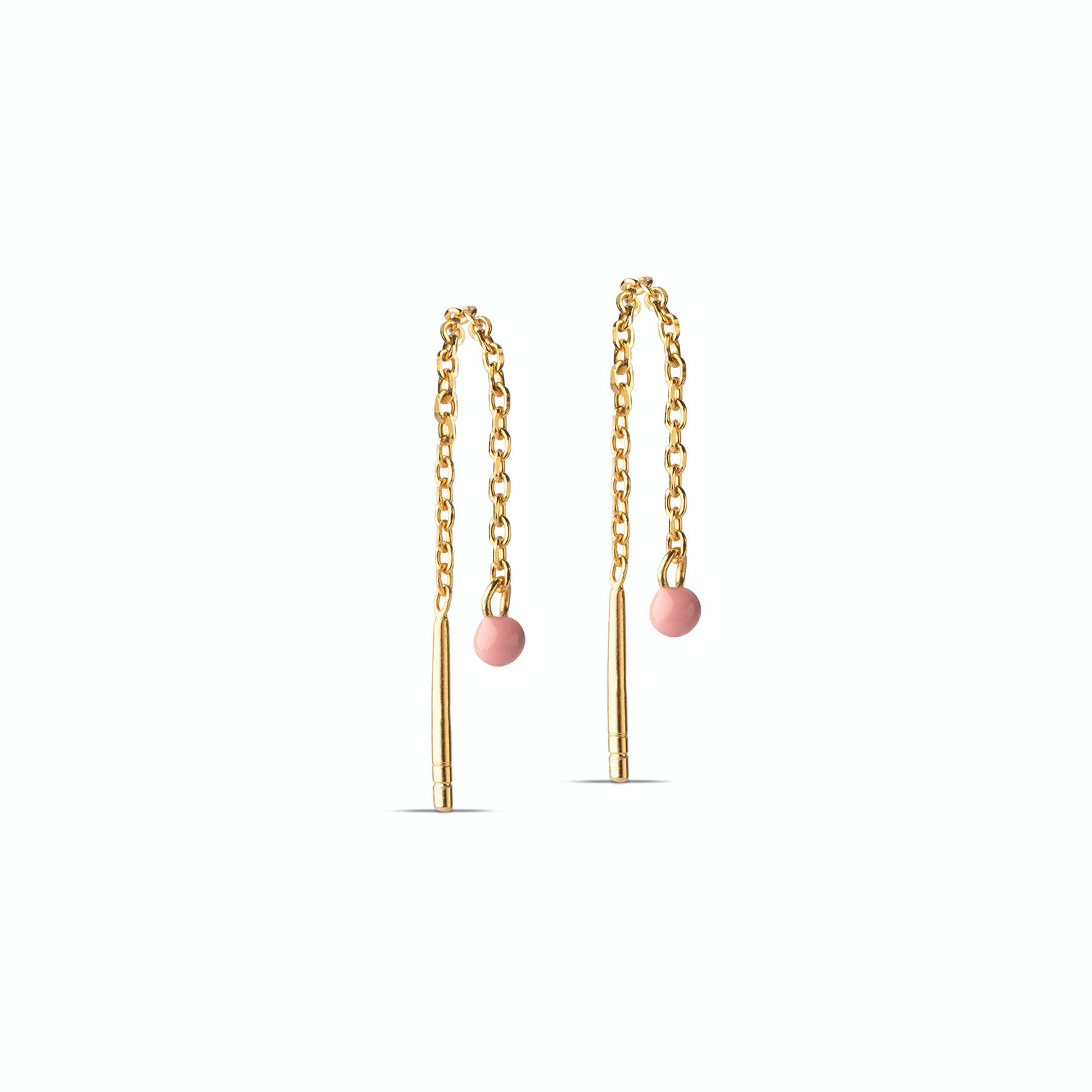 Ameli Earchains Flamingo fra Enamel Copenhagen i Forgylt-Sølv Sterling 925