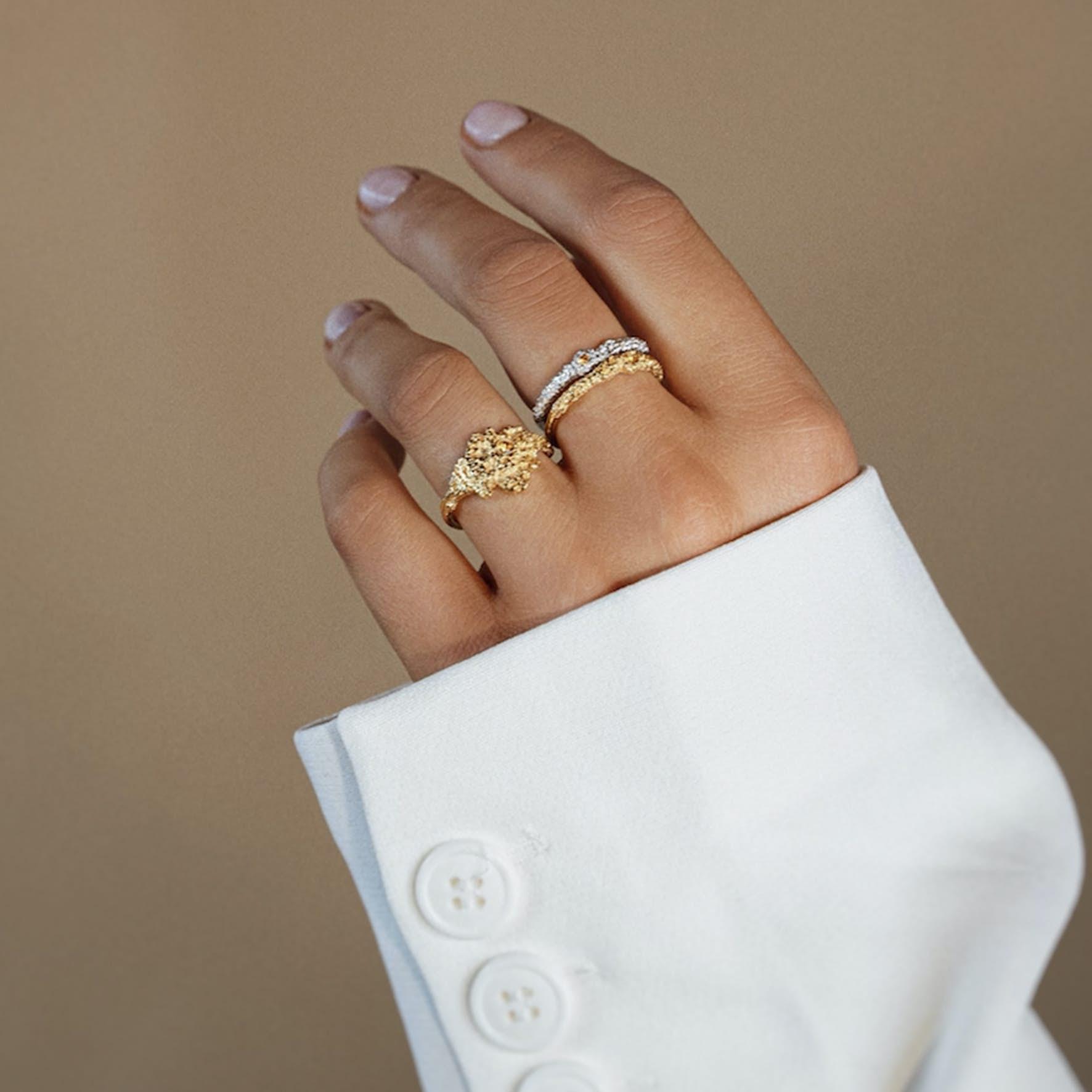 Silke By Sistie Large Ring von Sistie in Vergoldet-Silber Sterling 925 Blank