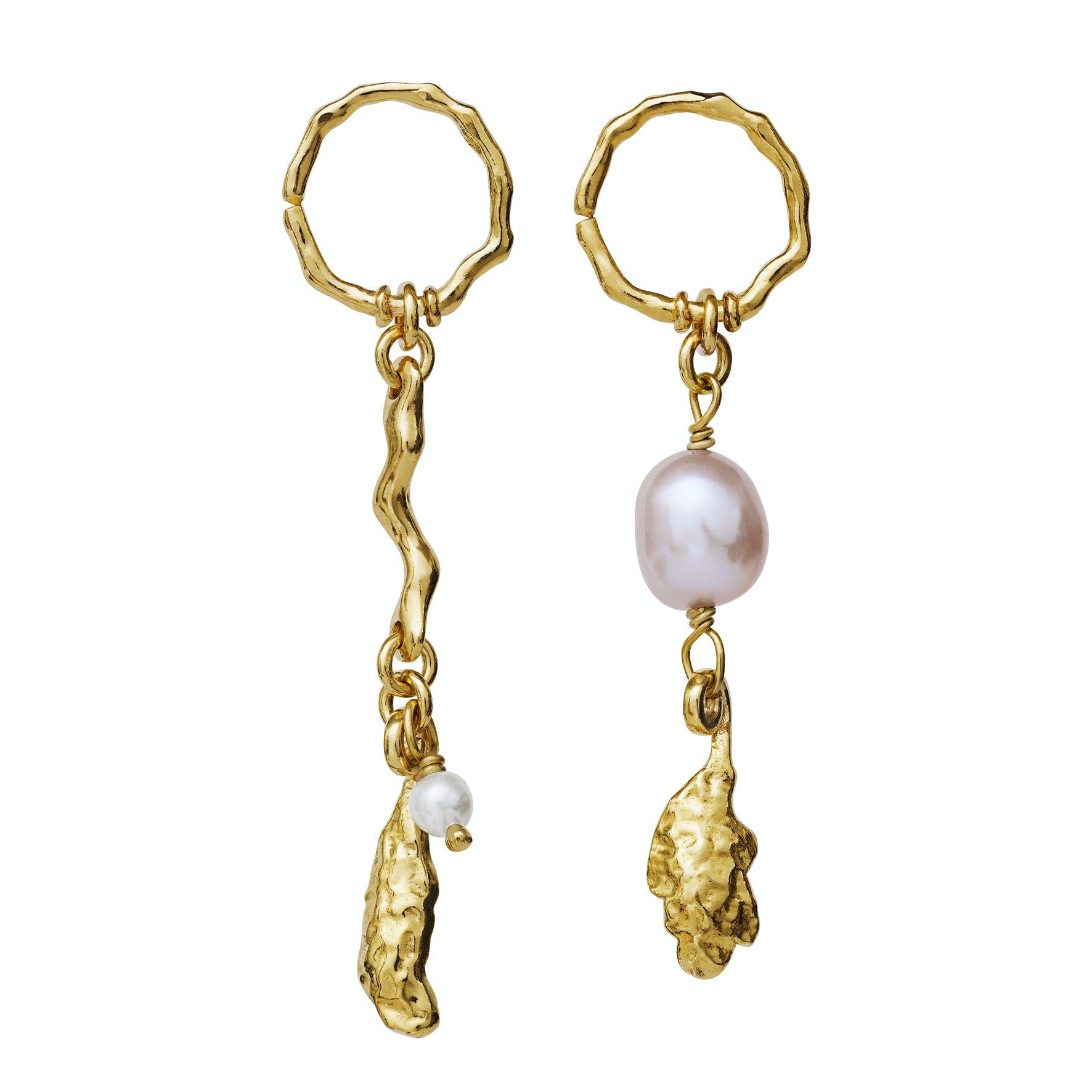 Lyric Earrings fra Maanesten i Forgyldt-Sølv Sterling 925|Freshwater Pearl
