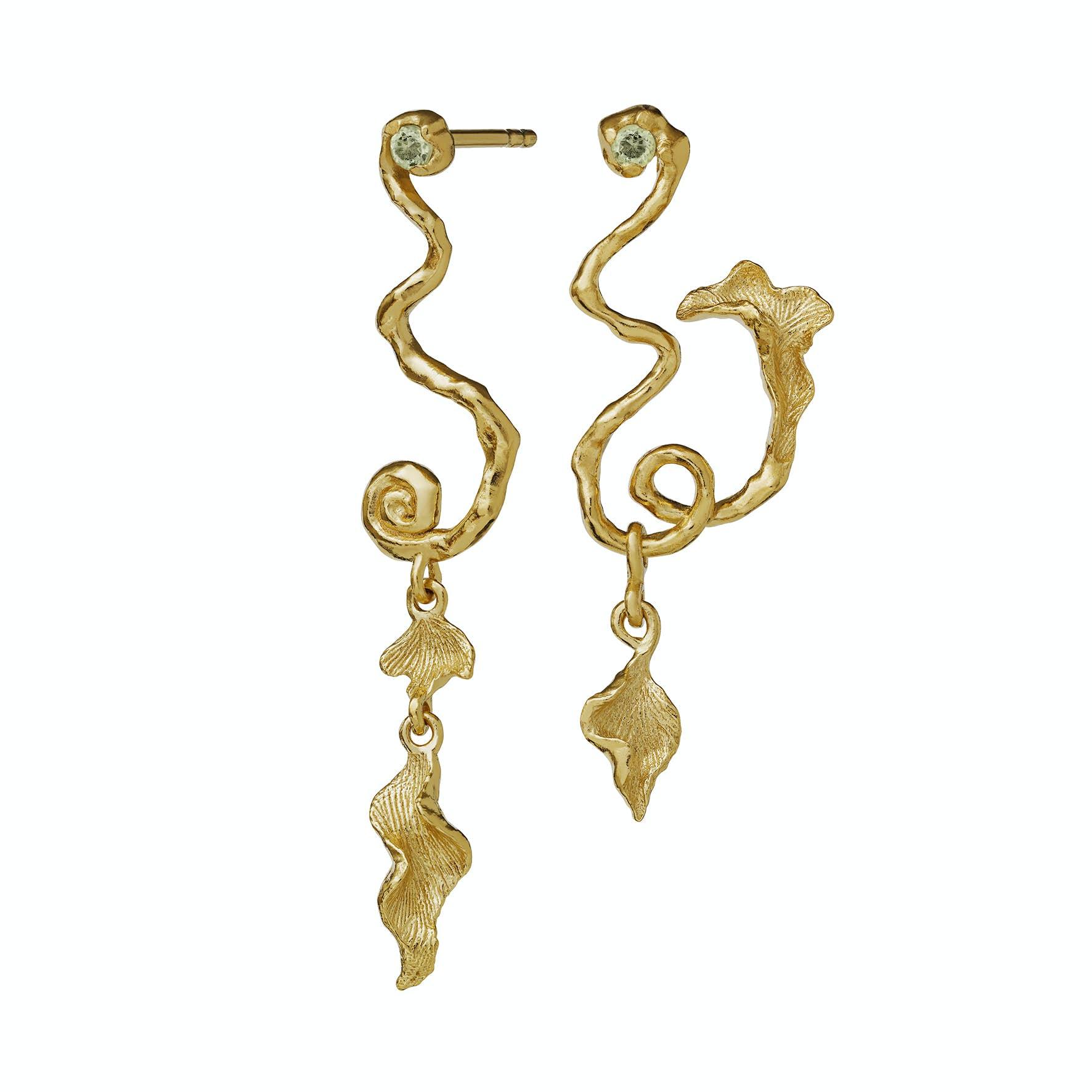 Magnoli Earrings fra Maanesten i Forgyldt-Sølv Sterling 925