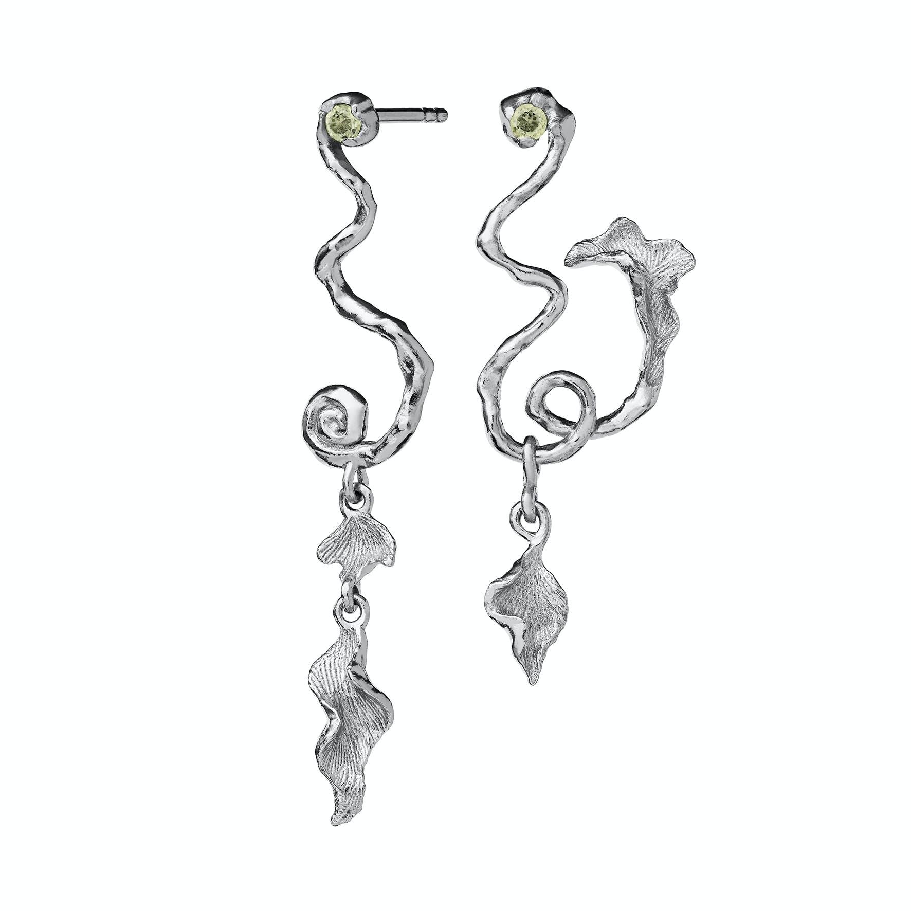 Magnoli Earrings from Maanesten in Silver Sterling 925