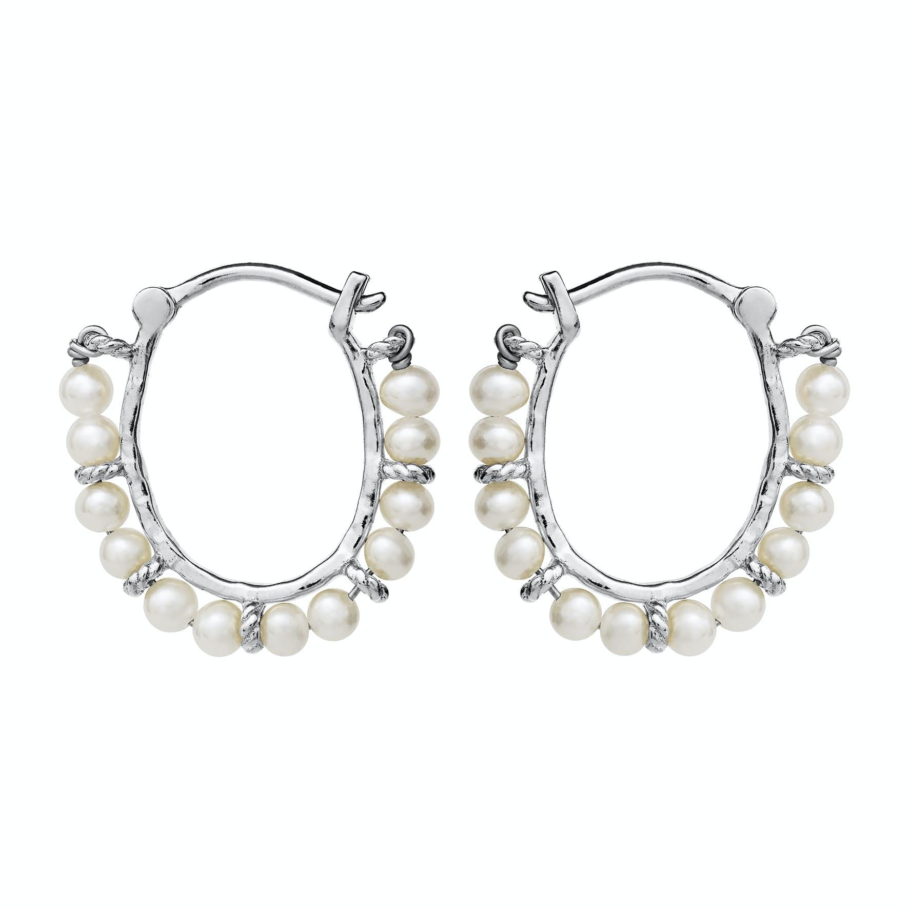 Phile Earrings from Maanesten in Silver Sterling 925|Freshwater Pearl|Blank