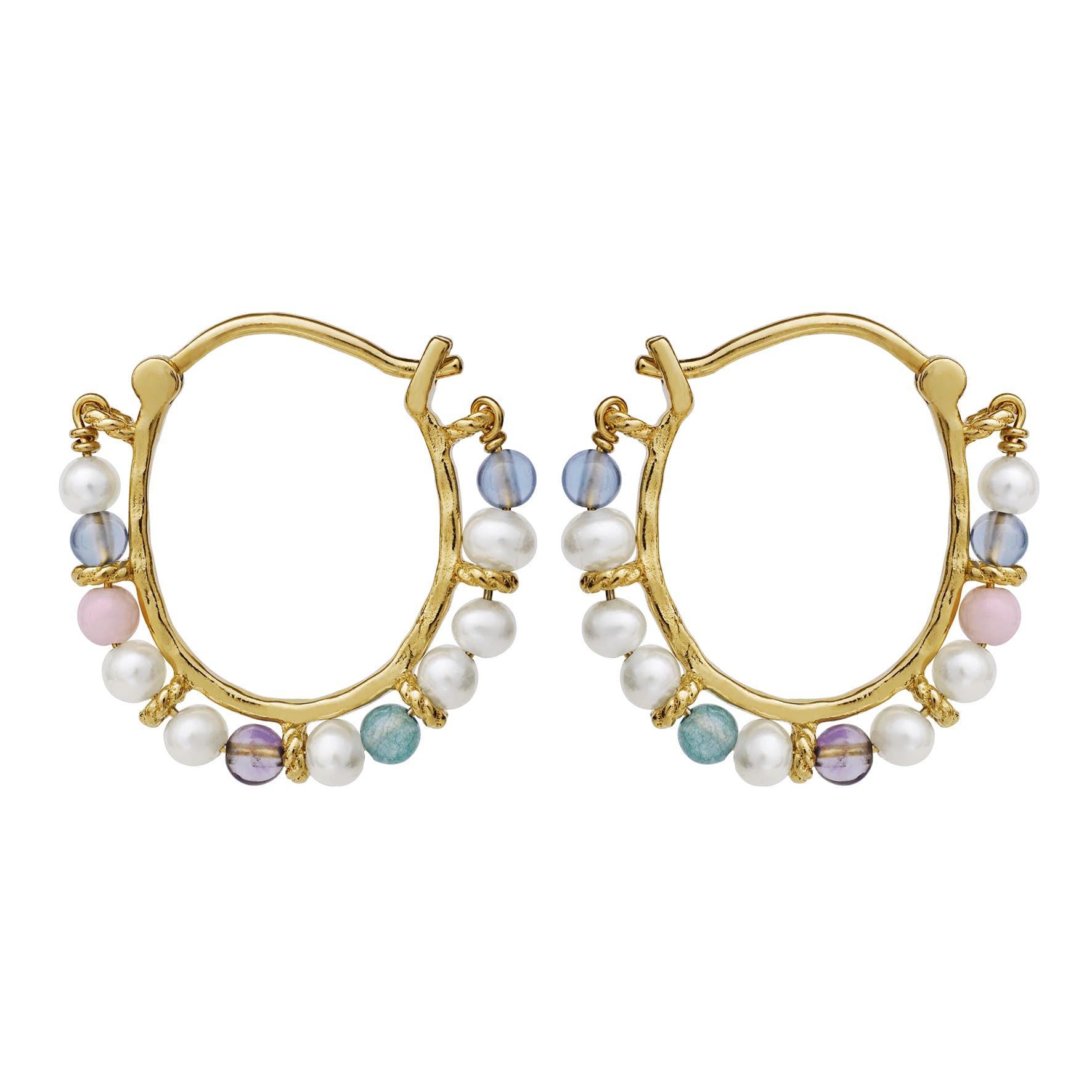 Phile Multi Earrings from Maanesten in Goldplated-Silver Sterling 925
