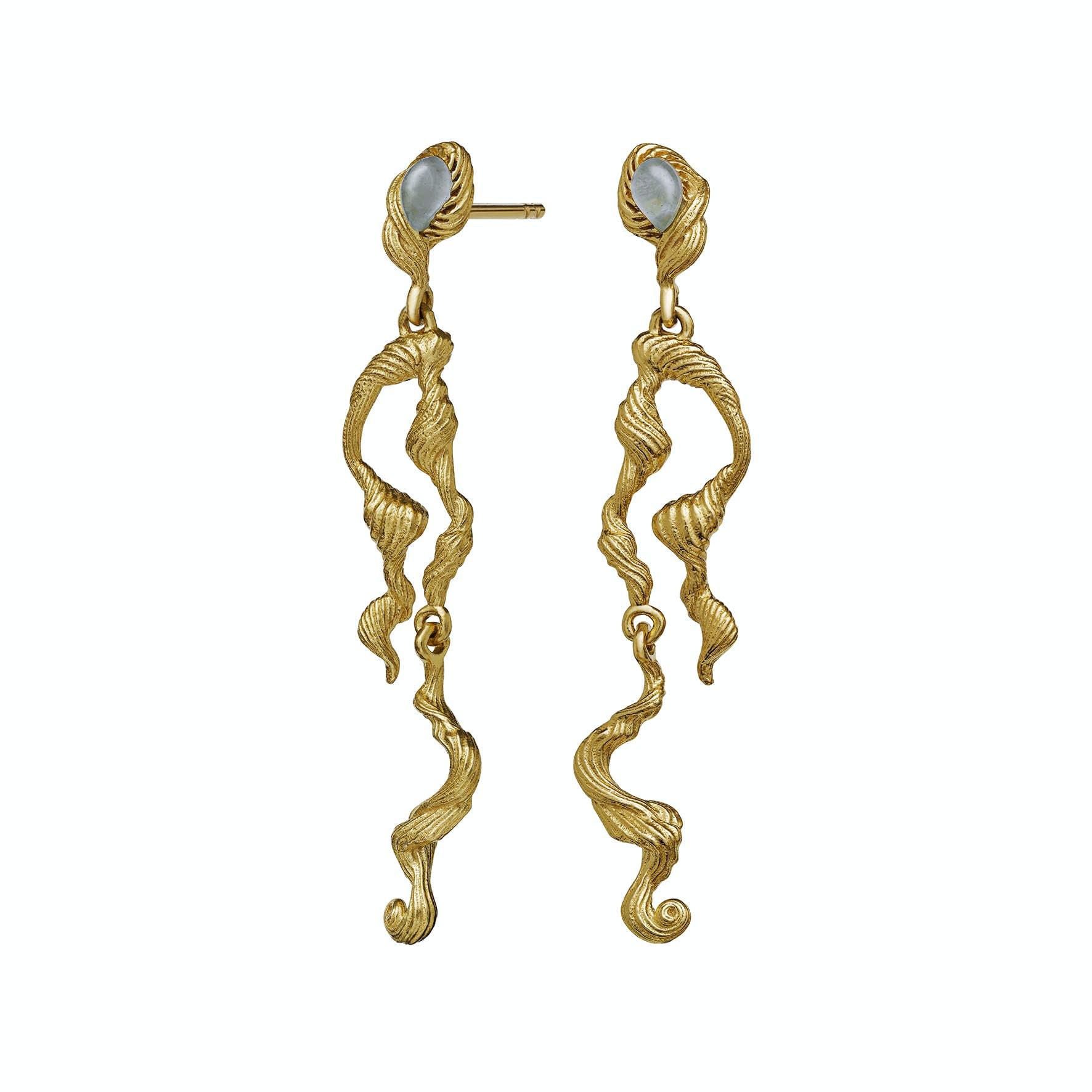 Idun Earrings från Maanesten i Förgyllt-Silver Sterling 925|