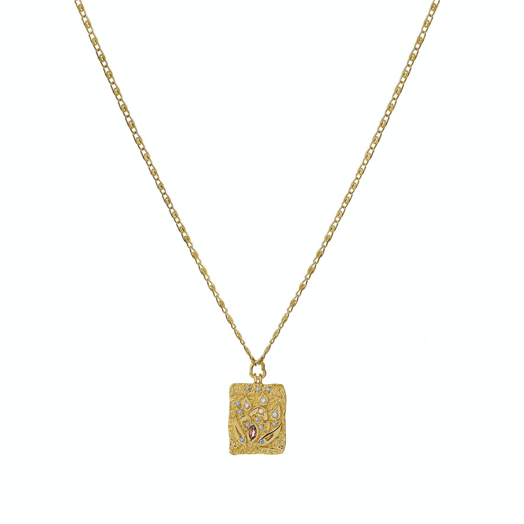 Fleur Necklace fra Maanesten i Forgylt-Sølv Sterling 925