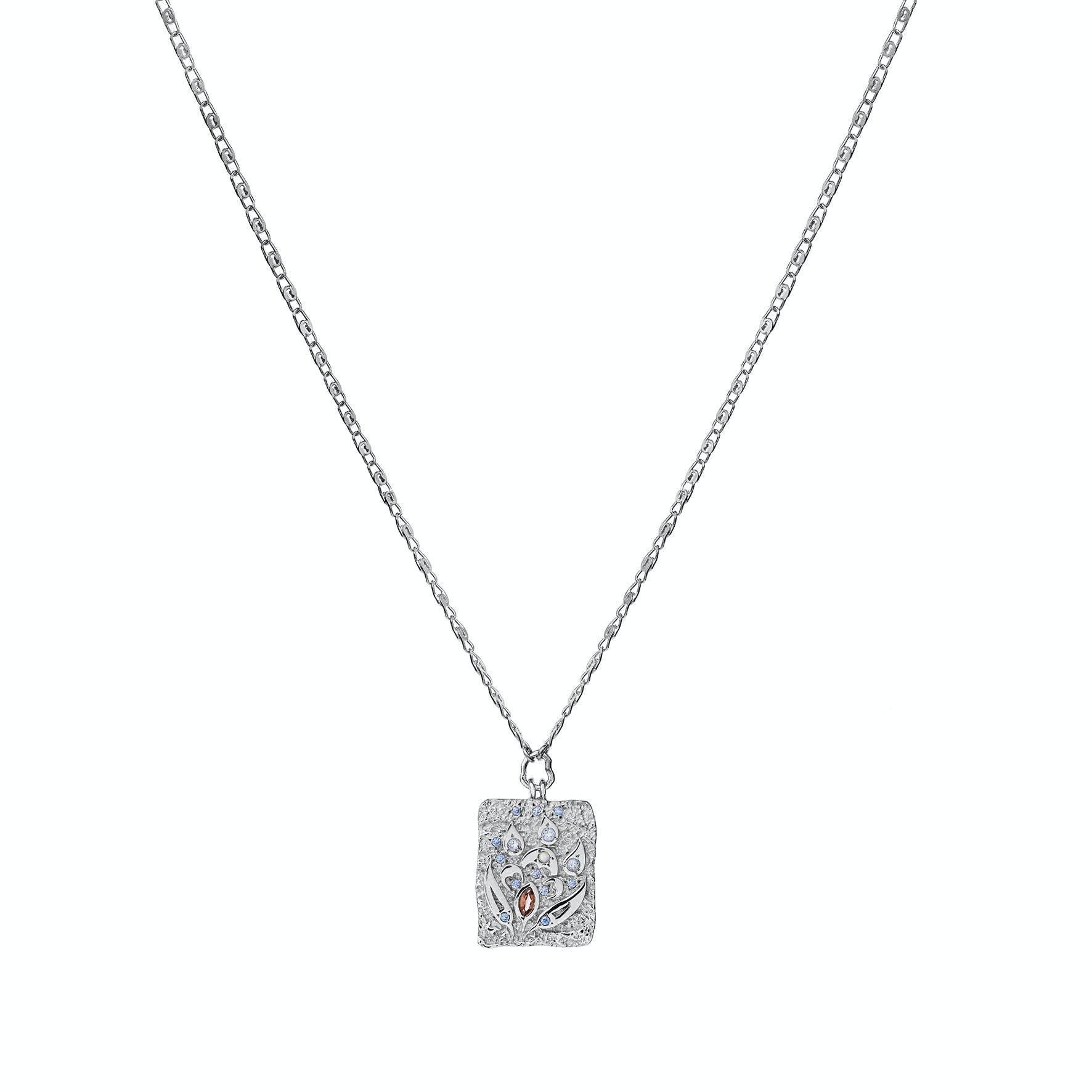 Fleur Necklace von Maanesten in Silber Sterling 925